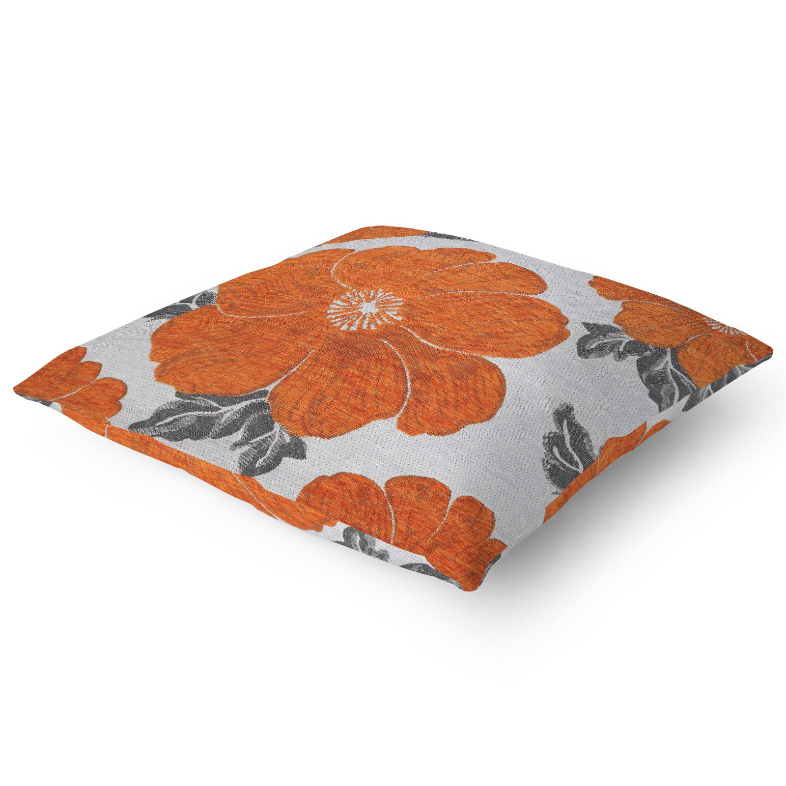 Chenille-Cushion-Cover-Floral-Reversible-Thick-Cushions-Covers-18-034-22-034-9-Colours thumbnail 27