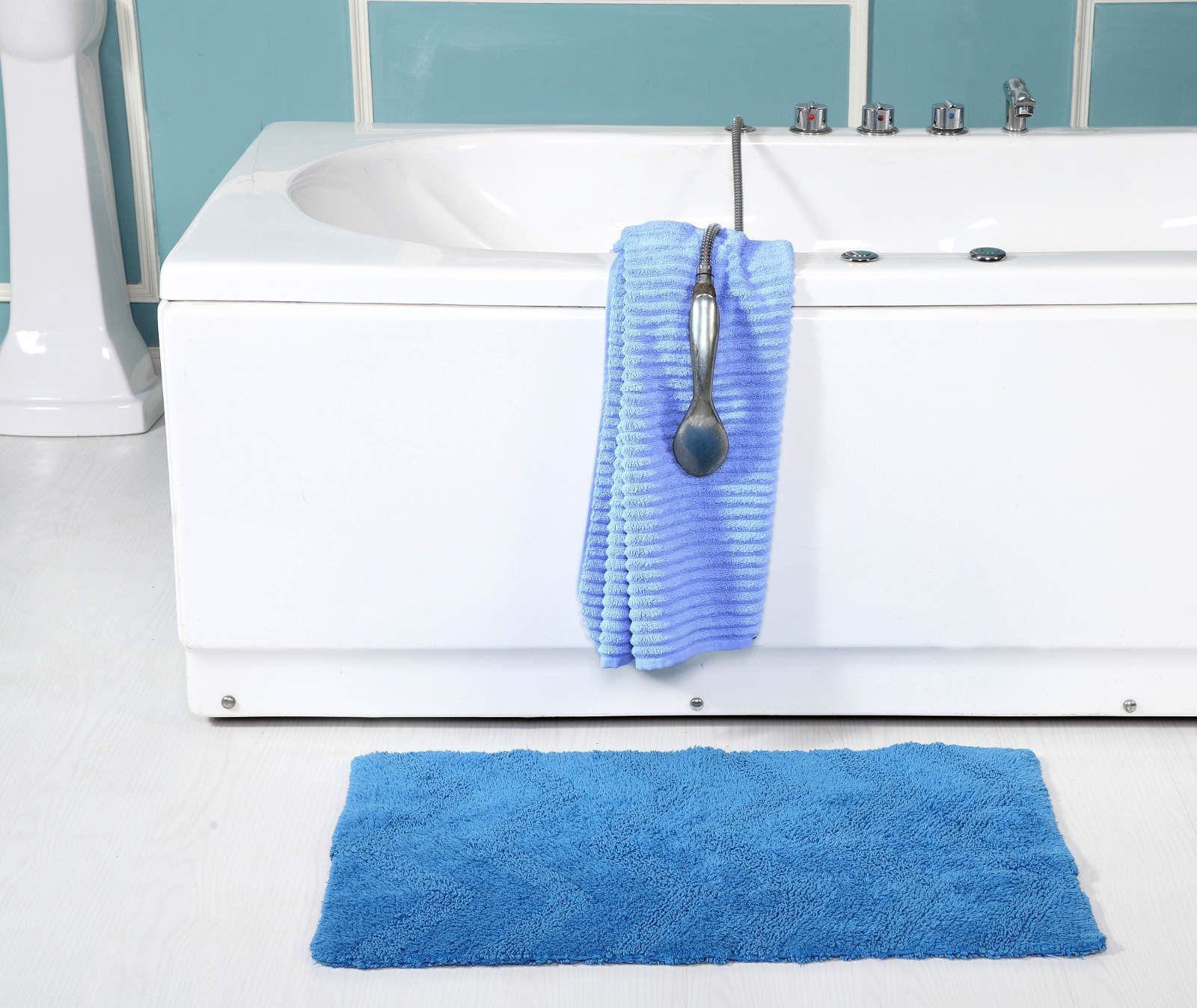 Chevron 100 Cotton Modern Bath Mat Luxury Shower Mats