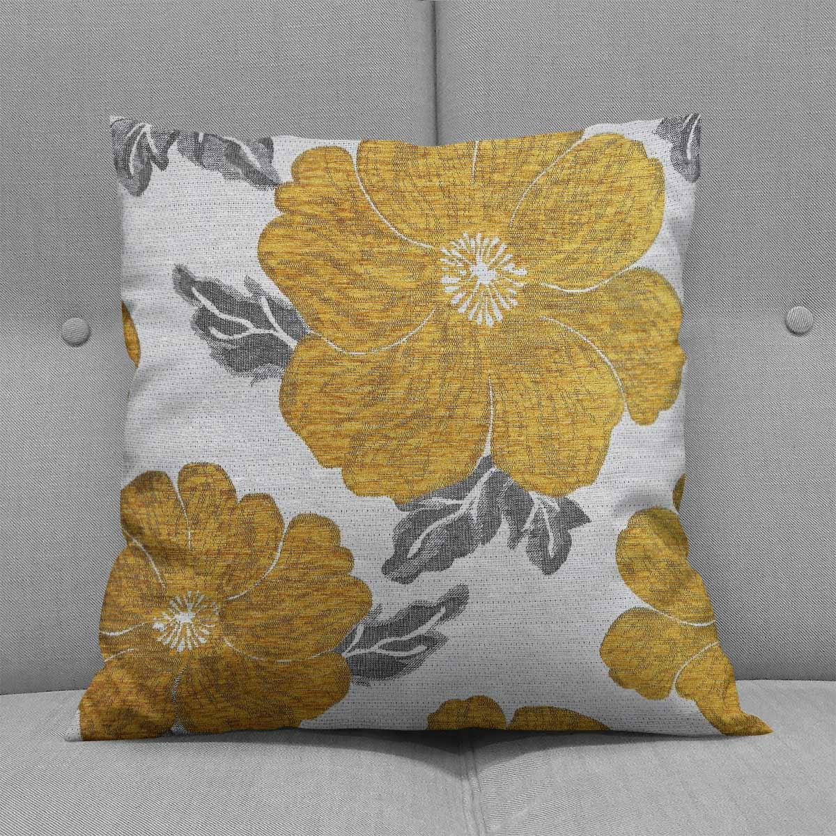 Chenille-Cushion-Cover-Floral-Reversible-Thick-Cushions-Covers-18-034-22-034-9-Colours thumbnail 7