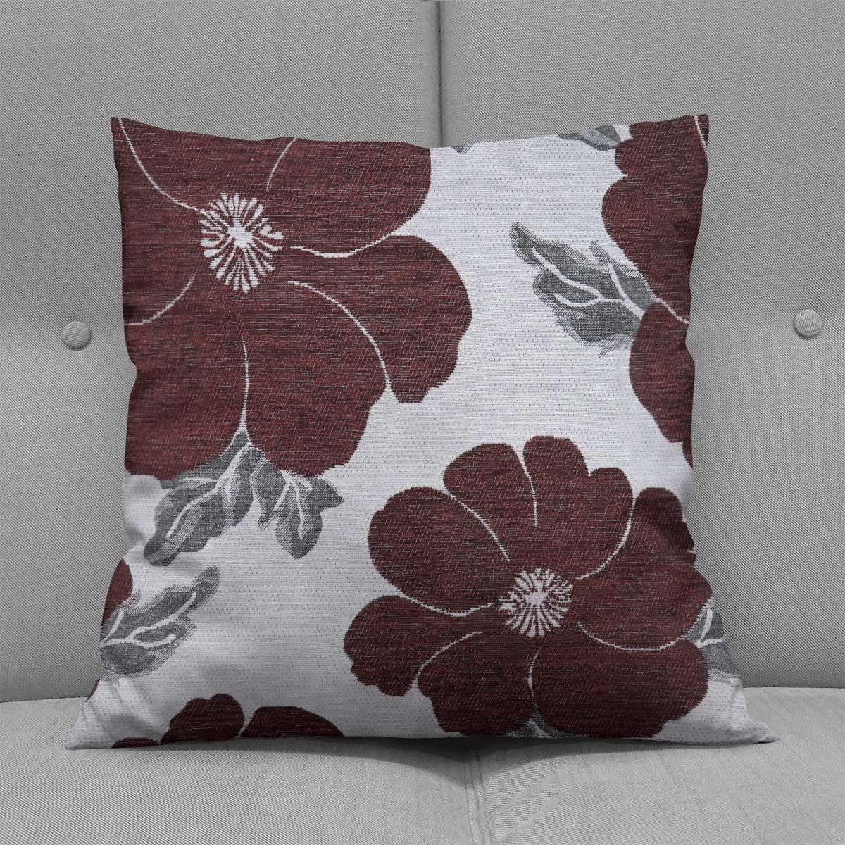Chenille-Cushion-Cover-Floral-Reversible-Thick-Cushions-Covers-18-034-22-034-9-Colours thumbnail 43