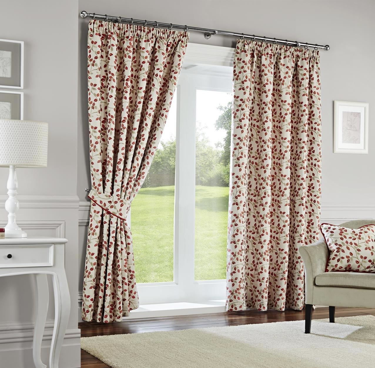 Superior High Quality Yarn Dyed Woven Curtains With A Small Leaf Pattern. These  Beautiful Curtains Are Fully Lined And Have Been Fitted With A Pencil Pleat  Tape ...