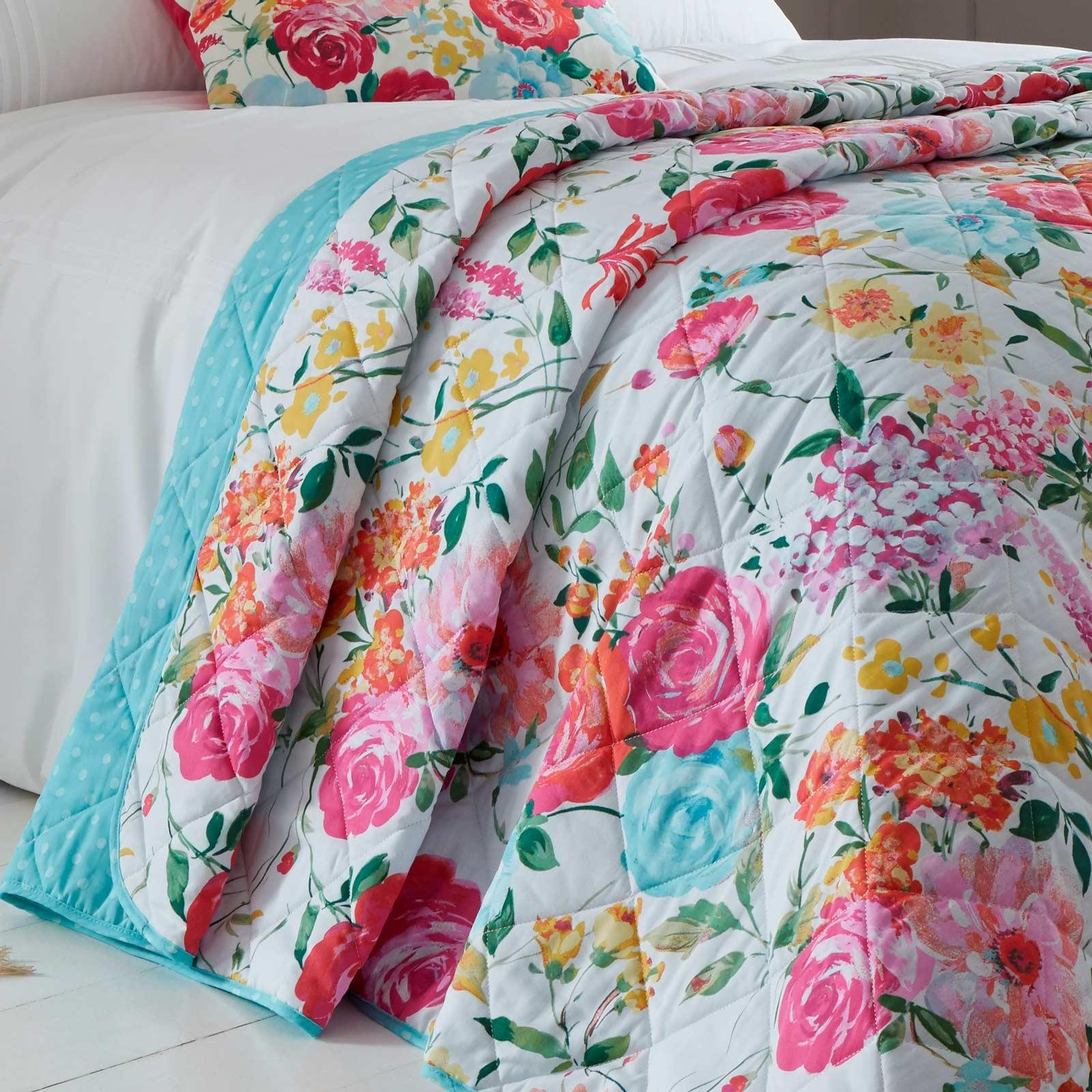 Catherine-Lansfield-Salisbury-Pink-cubierta-del-edredon-edredon-cubre-floral-de-conjuntos-de-cama miniatura 20