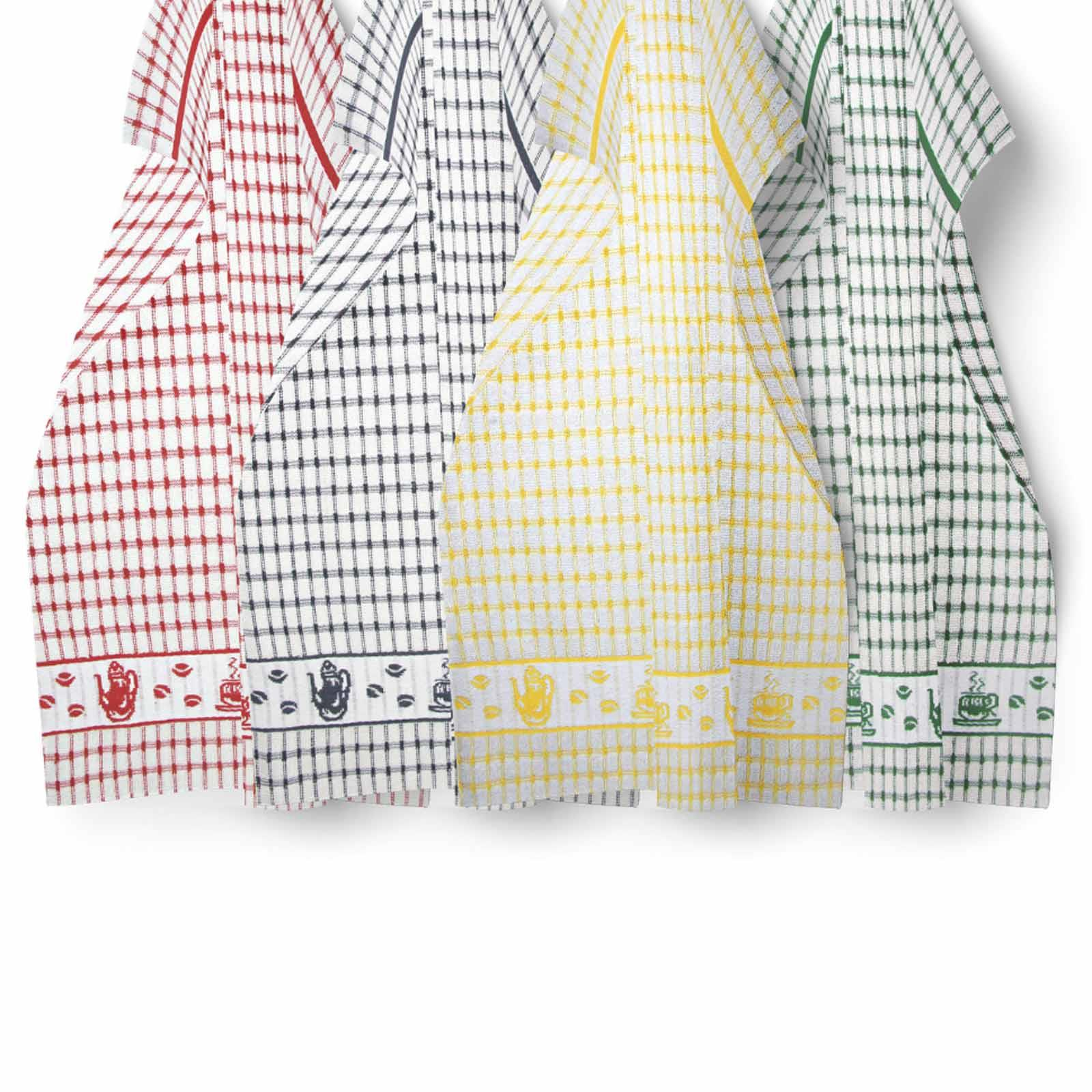 Packs-of-2-4-6-12-Tea-Towels-100-Cotton-Terry-Kitchen-Dish-Drying-Towel-Sets thumbnail 81