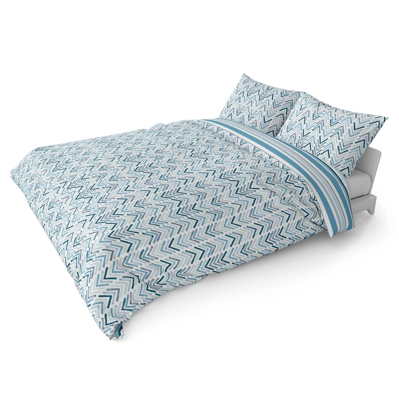 Funda-nordica-azul-azul-marino-verde-azulado-edredon-algodon-estampado-juego-conjuntos-de-cama-cubre miniatura 14
