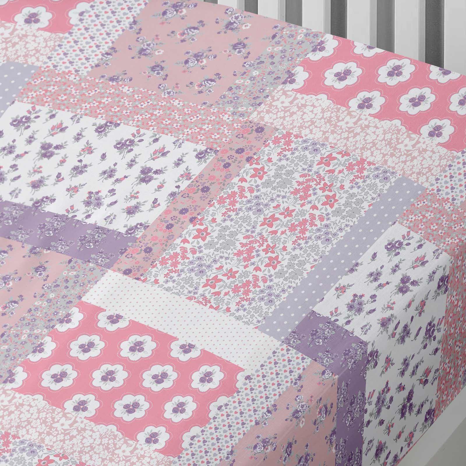 Kids-Duvet-Covers-Pink-Mermaids-Floral-Reversible-Print-Quilt-Bedding-Sets thumbnail 13