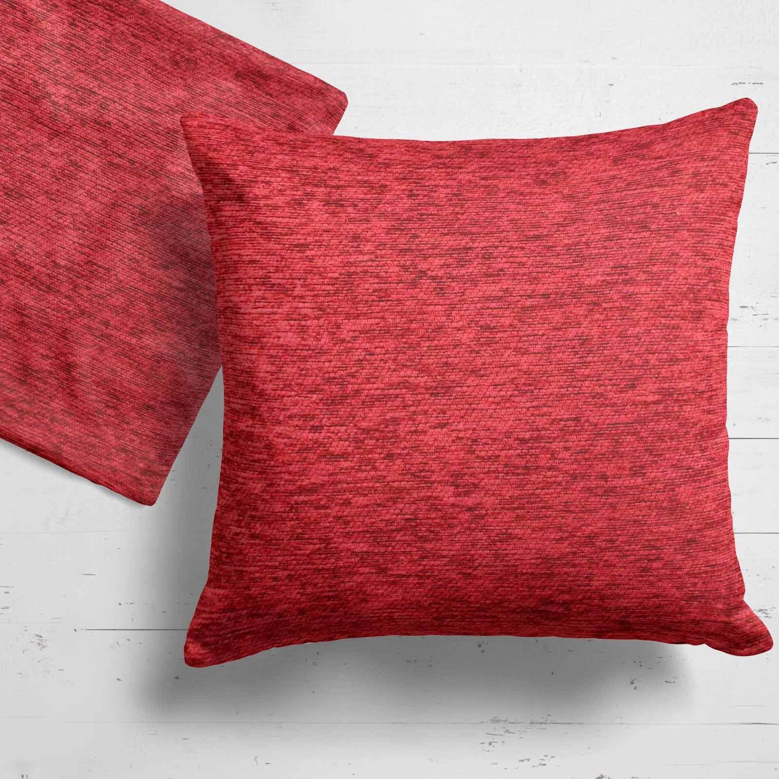 Set-of-2-Chenille-Cushion-Covers-Luxury-Plain-Cushions-Cover-Pairs-18-034-x-18-034 thumbnail 21