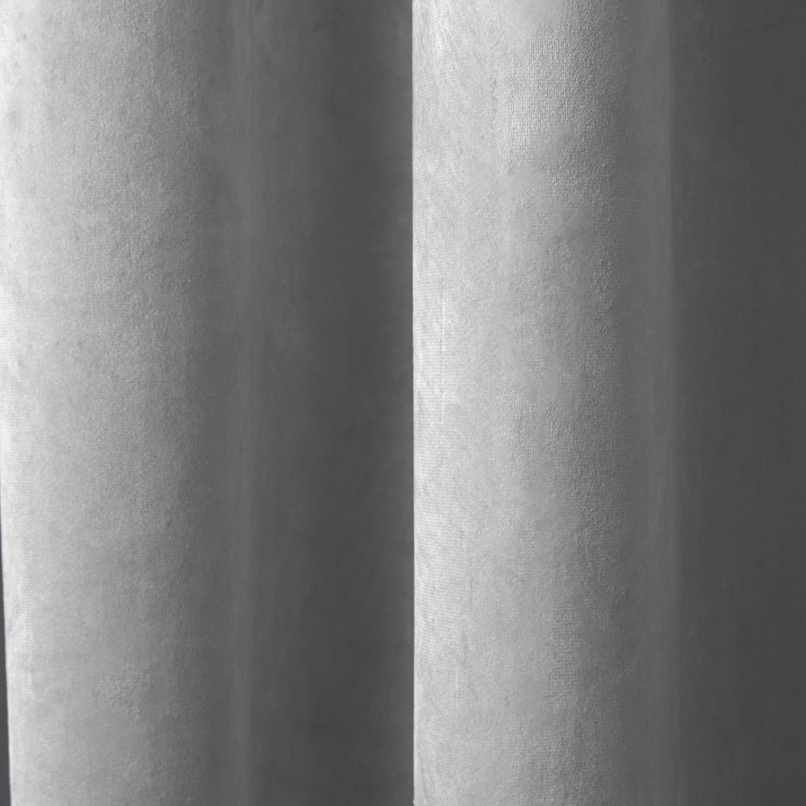 Gris Oeillet Rideaux black-out velours ready-made de luxe Rideaux à anneaux paires