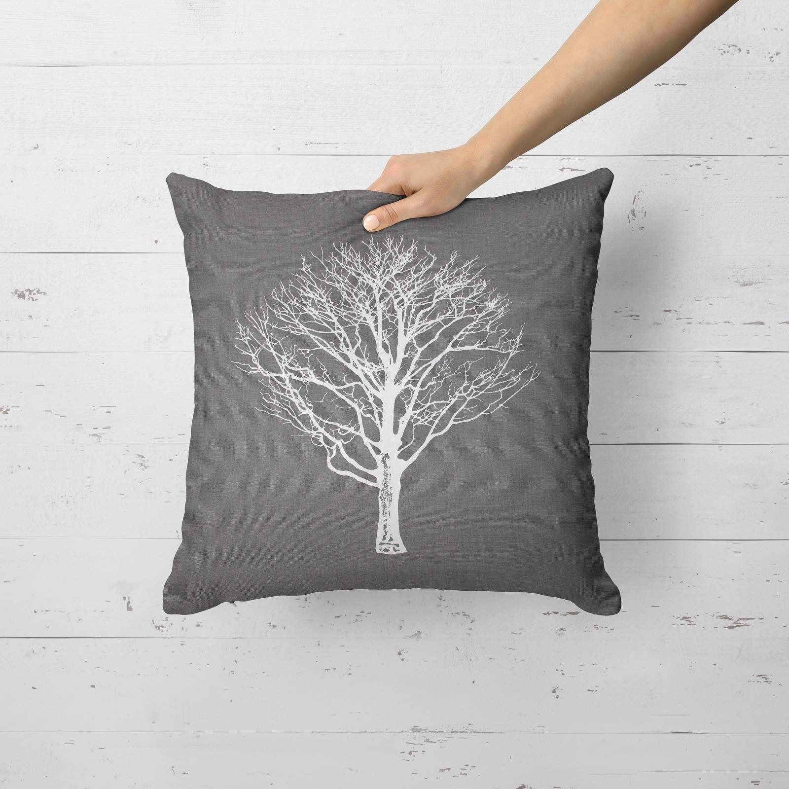 Woodland-Trees-Cushion-Cover-Modern-Reversible-Tree-Print-Covers-17-034-x-17-034 thumbnail 7