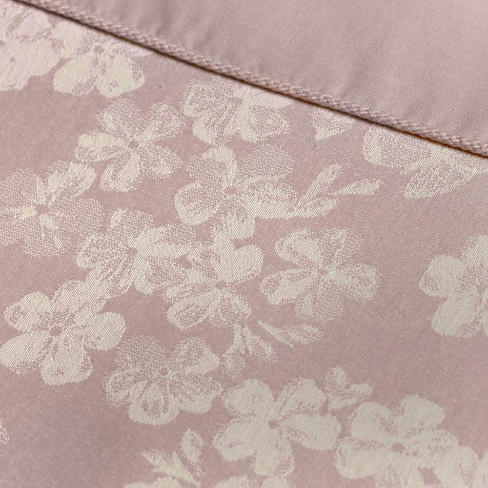 Fundas-de-Edredon-Rosa-Blush-Jacquard-Floral-Cubierta-Del-Edredon-Conjuntos-de-Ropa-de-cama-de-lujo miniatura 10