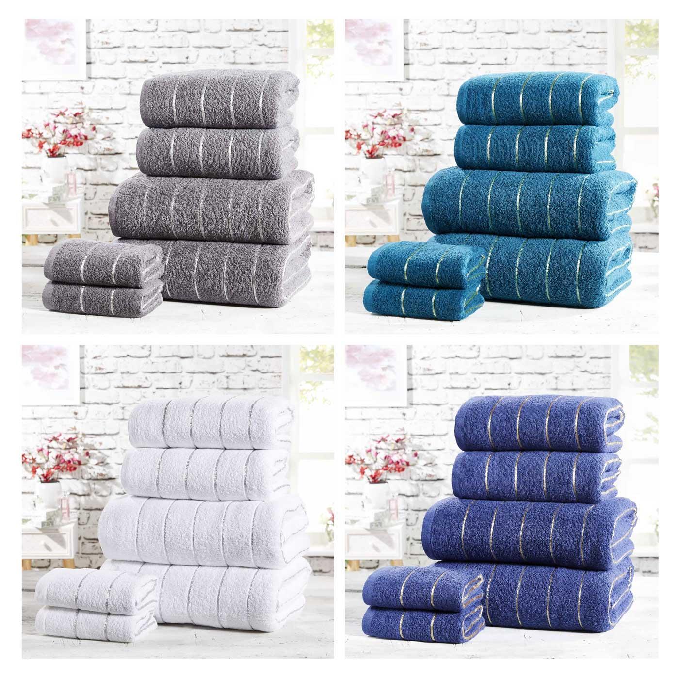 Sandringham Towel Bale 2 and 6 Piece Sets 100/% Cotton