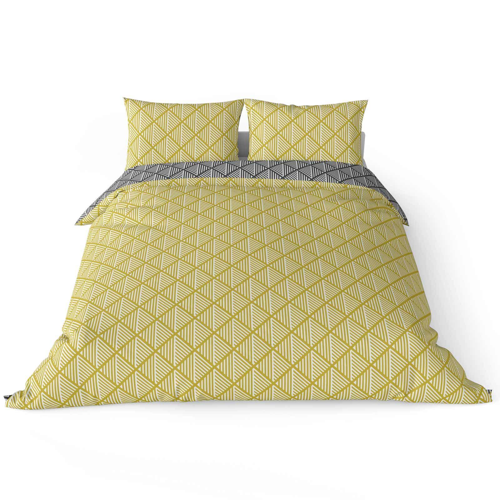Mostaza-amarillo-ocre-Funda-de-edredon-impreso-Edredon-juego-ropa-de-cama-cubre-conjuntos miniatura 30