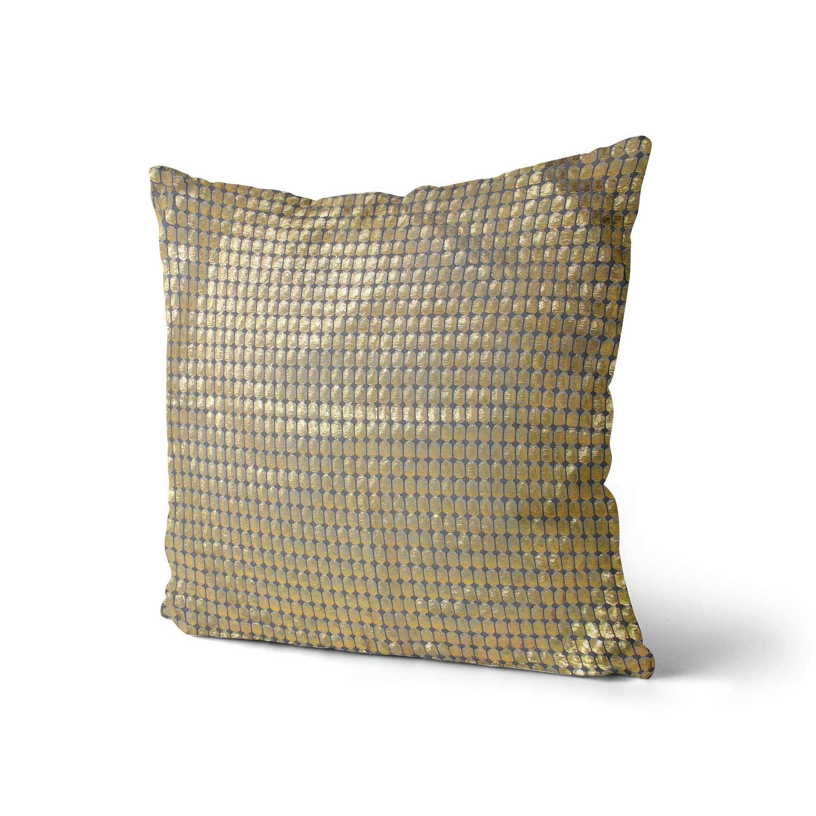 Impresion-de-lamina-metalica-Moderno-Funda-De-Cojin-Almohadon-cubiertas-de-cojines-18-034-X-18-034 miniatura 11