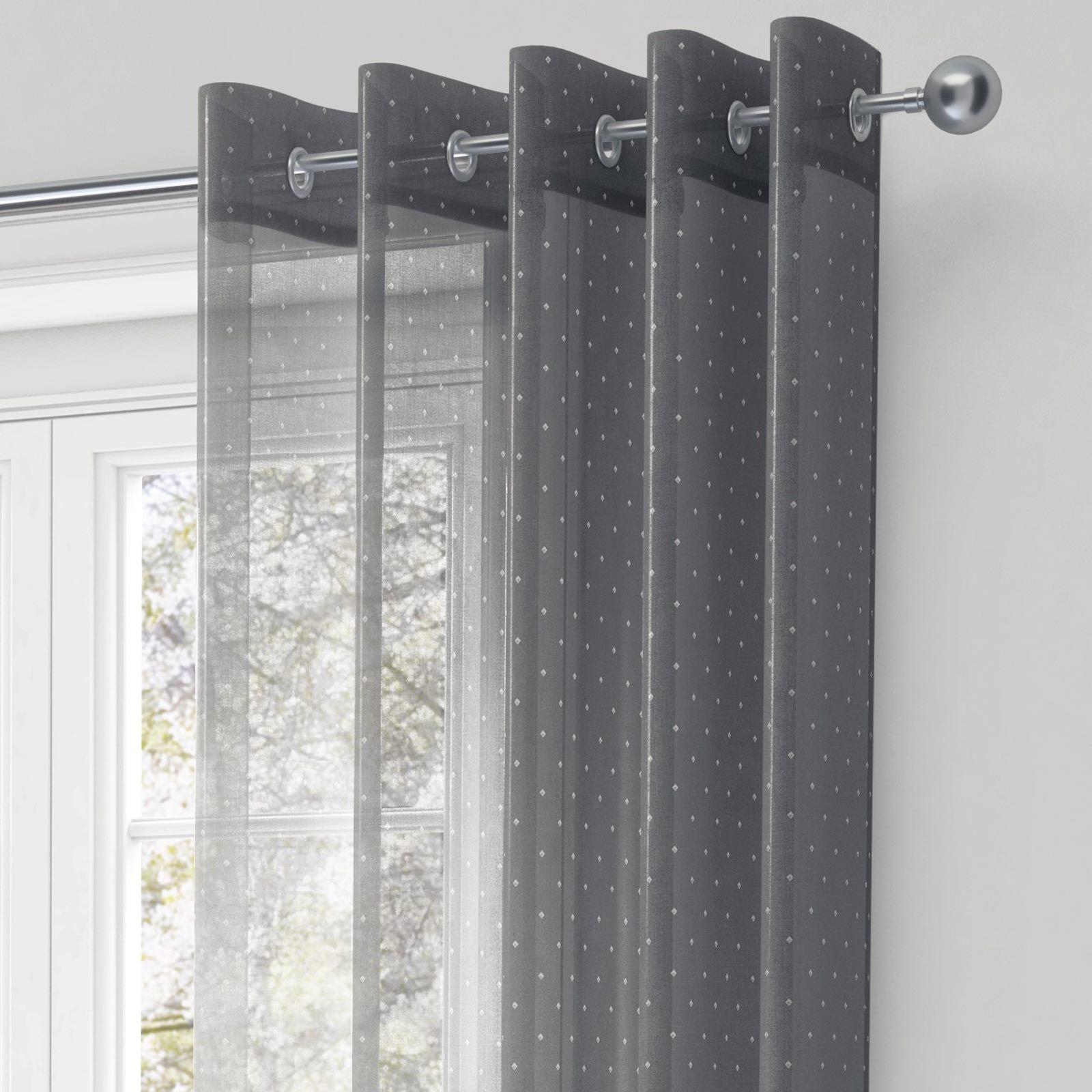 photos voile shiny ideas and sheer eyelet impressive curtain curtains weave panel ukvoile uk white silver