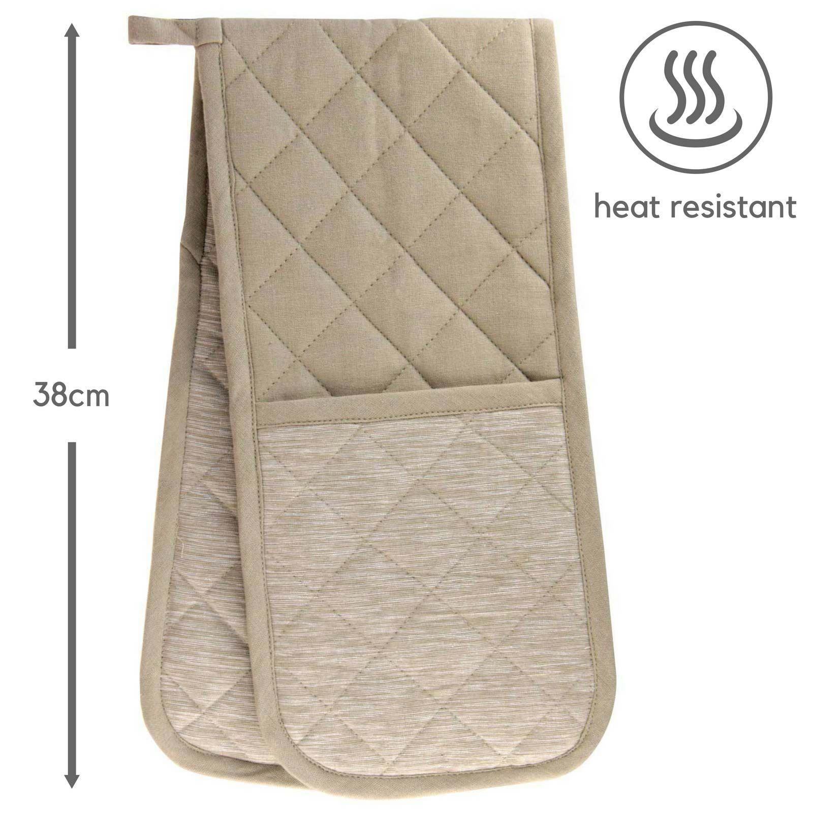 Four-Double-Gants-100-Resistant-a-La-Chaleur-Coton-Rembourre-maniques miniature 22