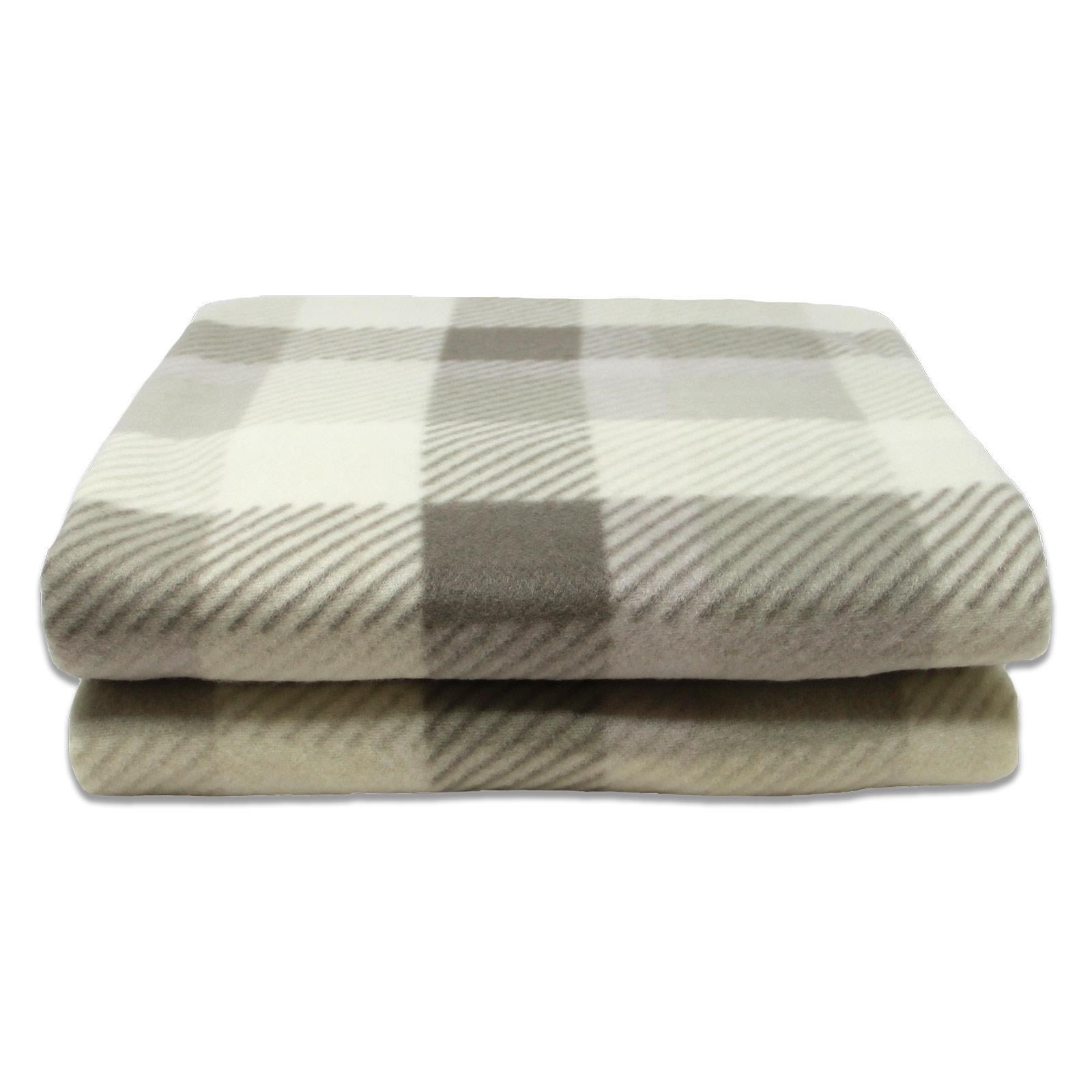 Sofa-de-verificacion-de-tartan-polar-mantas-polar-silla-acogedor-lanza-Manta-127cm-X-152cm miniatura 21