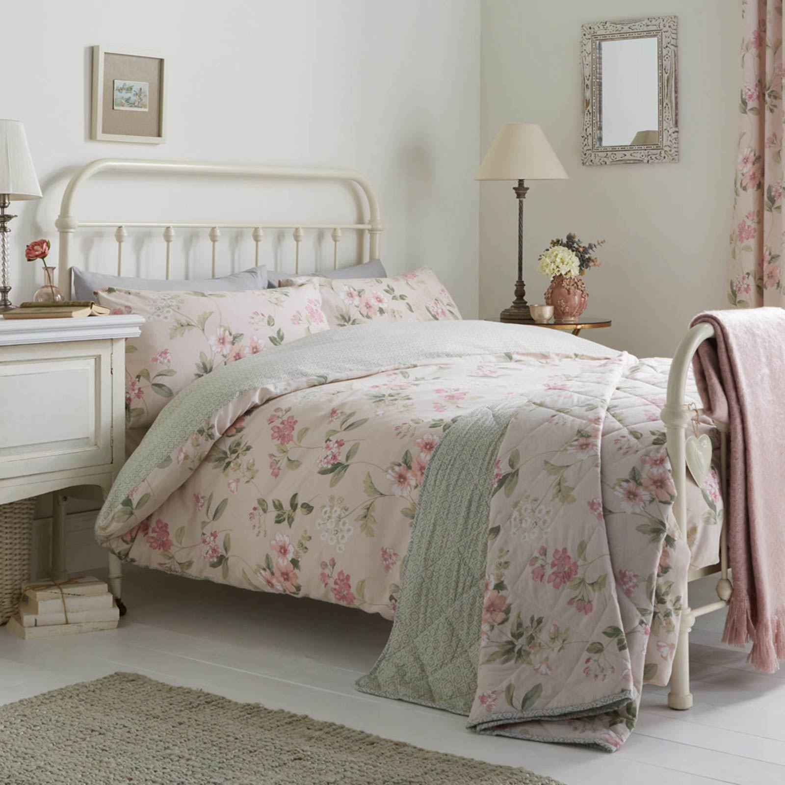 Floral-Fundas-nordicas-Lorena-Vintage-Estampado-De-Flores-conjuntos-de-ropa-de-cama-de-edredon-de miniatura 5