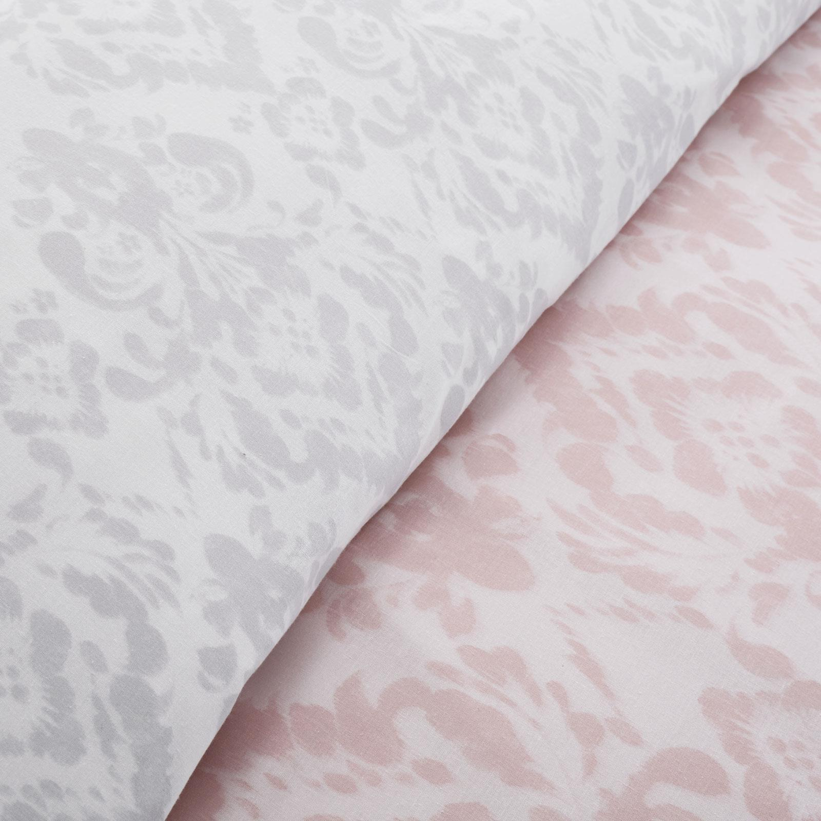 thumbnail 5 - Catherine Lansfield Damask Blush Duvet Covers Pink Grey Quilt Cover Bedding Sets