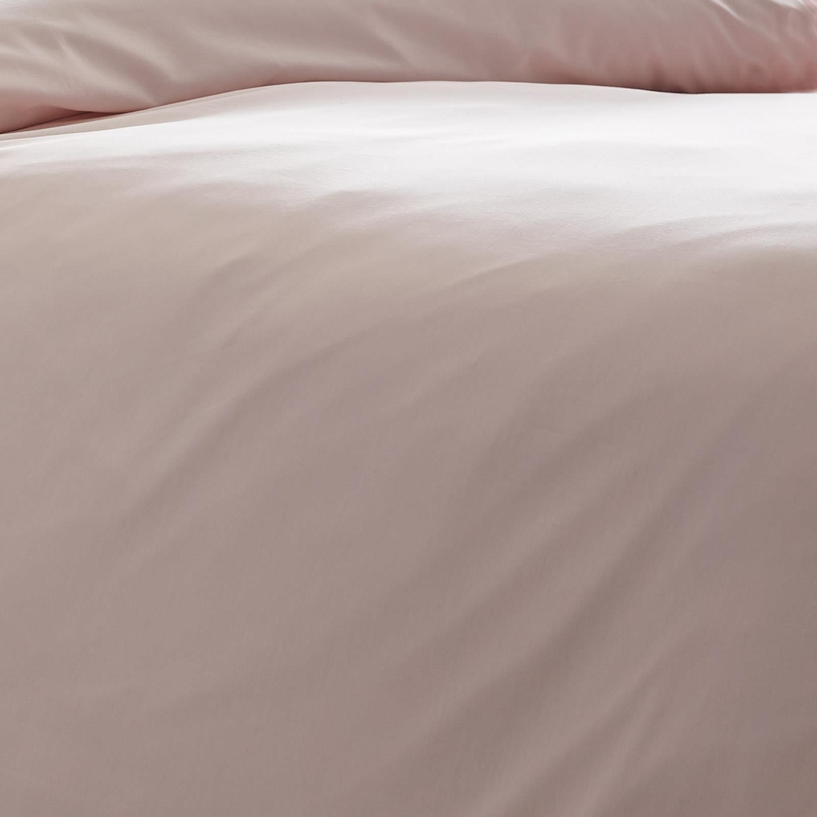 Blush-fundas-nordicas-Rosa-100-algodon-200-Hilos-Llano-Edredon-Conjuntos-de-Cama miniatura 9
