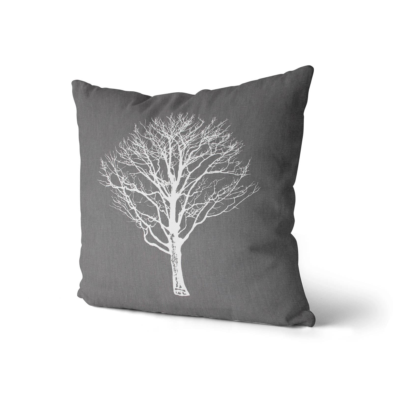 Woodland-Trees-Cushion-Cover-Modern-Reversible-Tree-Print-Covers-17-034-x-17-034 thumbnail 6