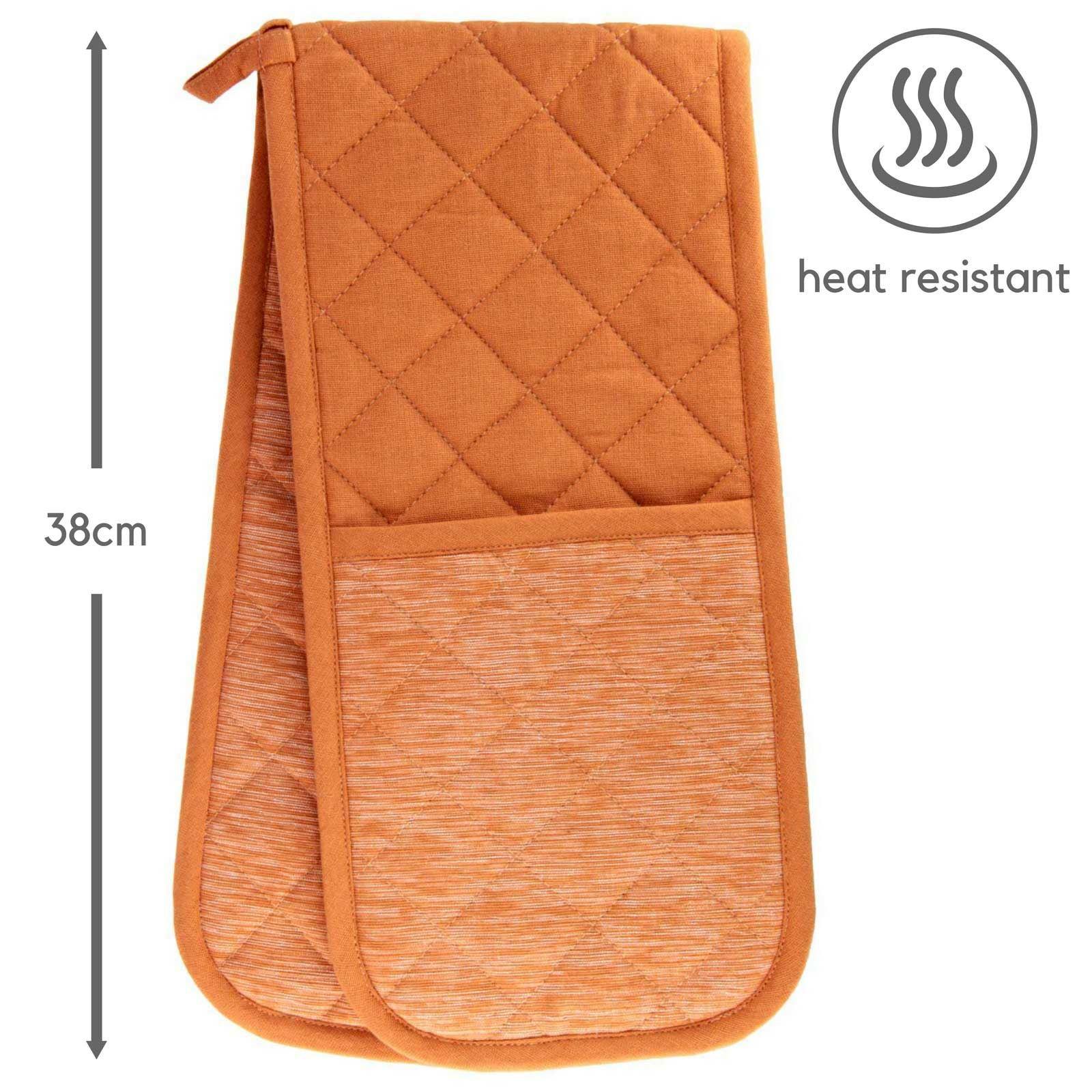 Four-Double-Gants-100-Resistant-a-La-Chaleur-Coton-Rembourre-maniques miniature 28