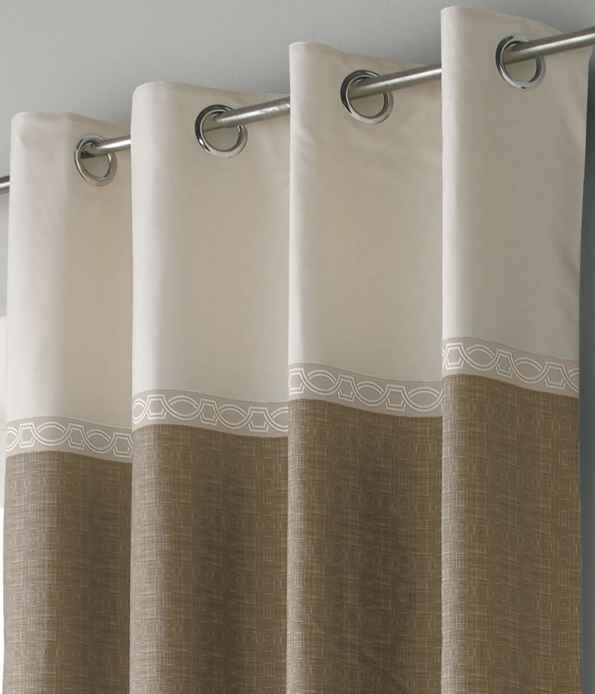 toronto lined eyelet curtains ready made ring top pairs. Black Bedroom Furniture Sets. Home Design Ideas
