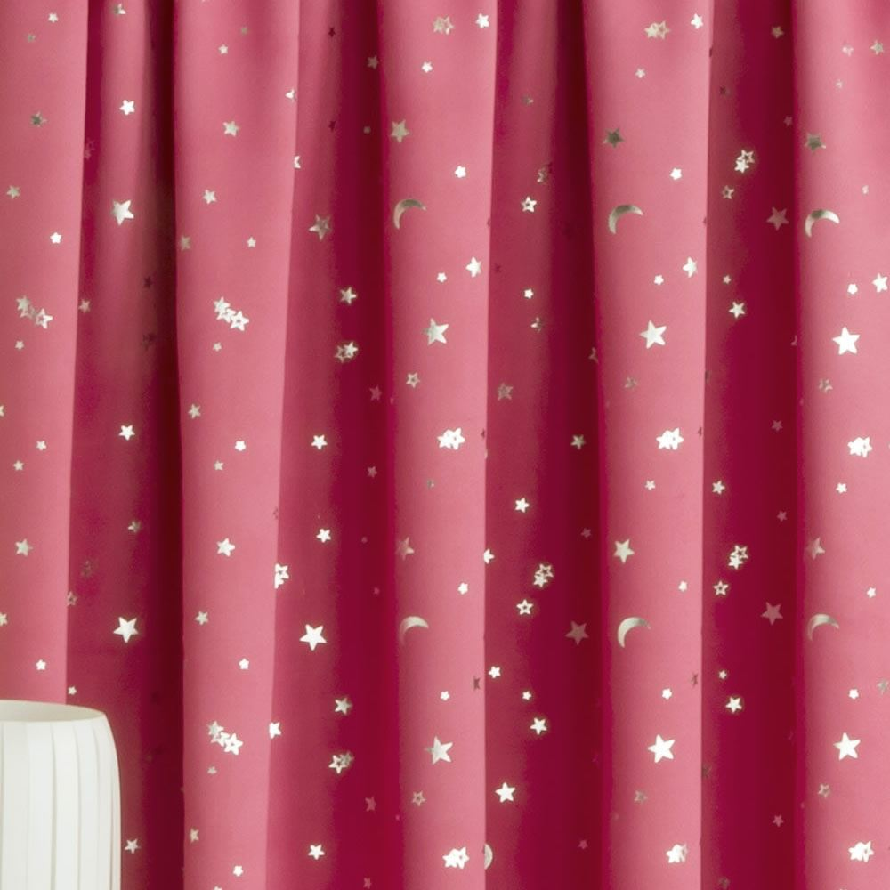 Moon Light Star Thermal Block Out Lined Curtains Ready Made Nursery Kids Bedroom Ebay