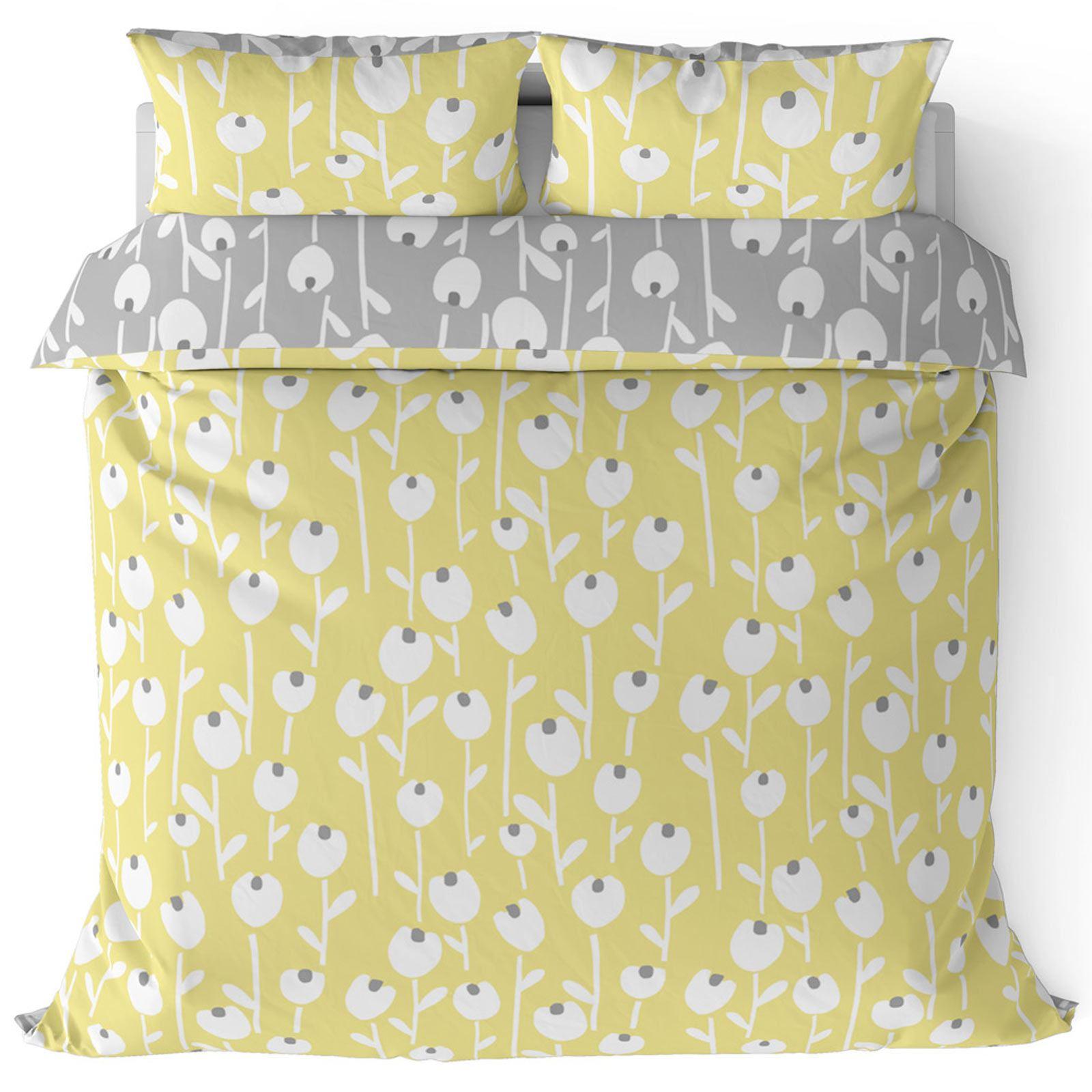 Mostaza-amarillo-ocre-Funda-de-edredon-impreso-Edredon-juego-ropa-de-cama-cubre-conjuntos miniatura 5