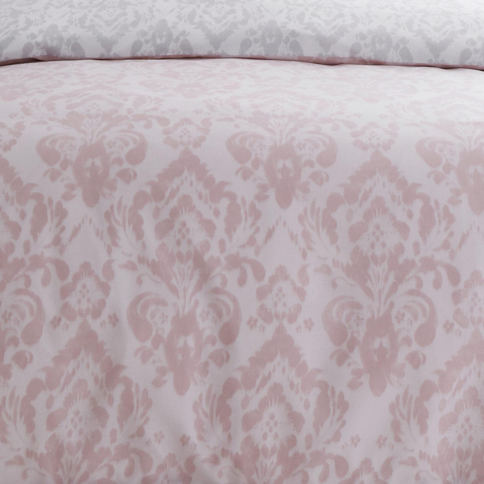 thumbnail 3 - Catherine Lansfield Damask Blush Duvet Covers Pink Grey Quilt Cover Bedding Sets
