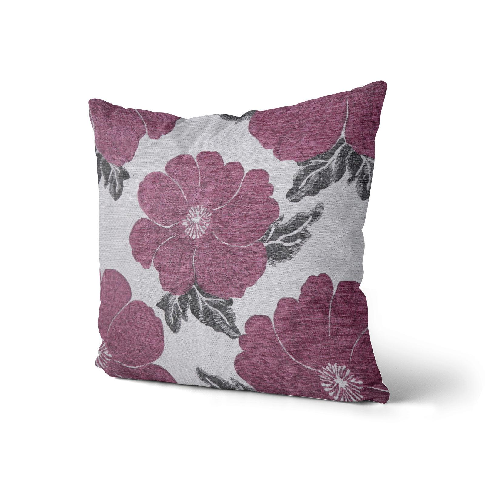 Chenille-Cushion-Cover-Floral-Reversible-Thick-Cushions-Covers-18-034-22-034-9-Colours thumbnail 17