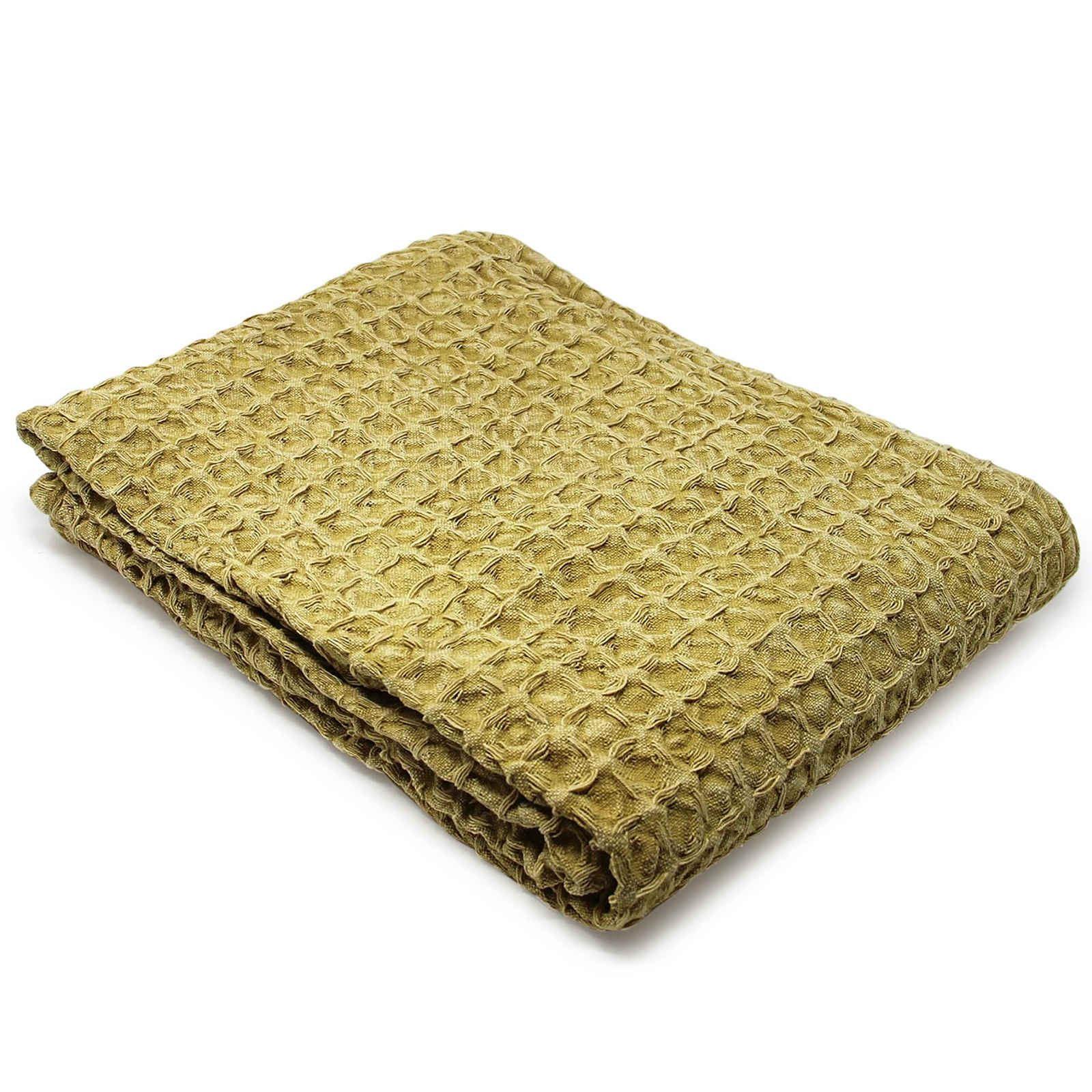 Oregon-Stonewash-Waffle-Throw-Modern-Distressed-Sofa-Bed-Blankets-100-Cotton thumbnail 15