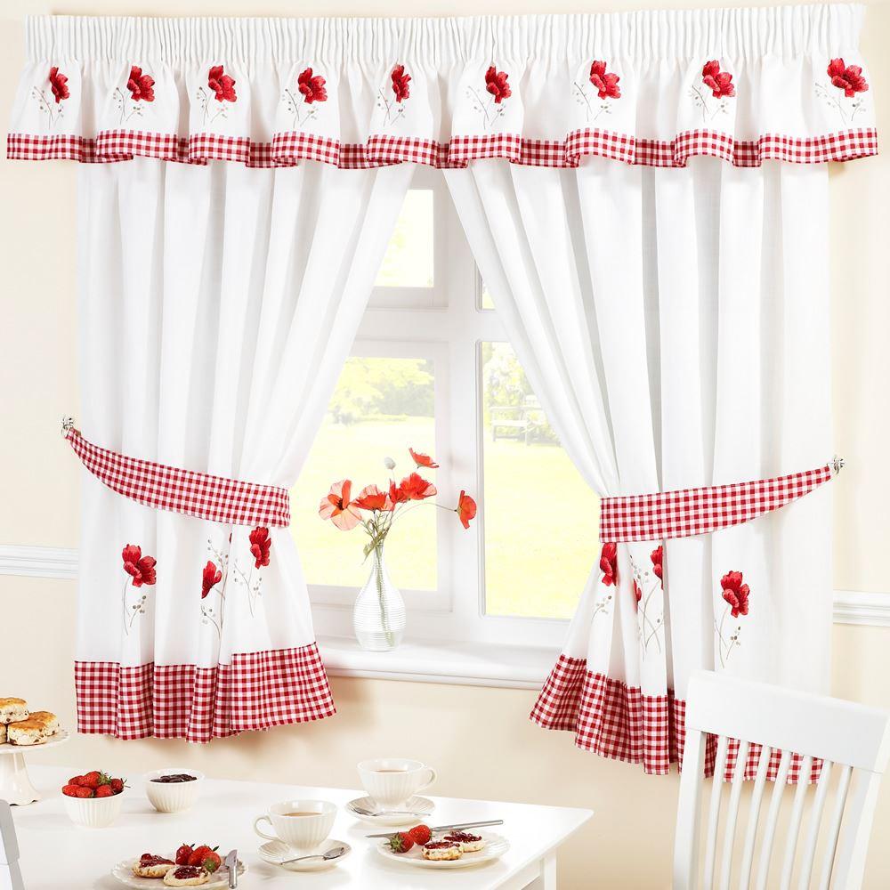 Ready-Made-Kitchen-Window-Rideaux-pelmets-amp-Coussins-d-039-assise-vendu-separement