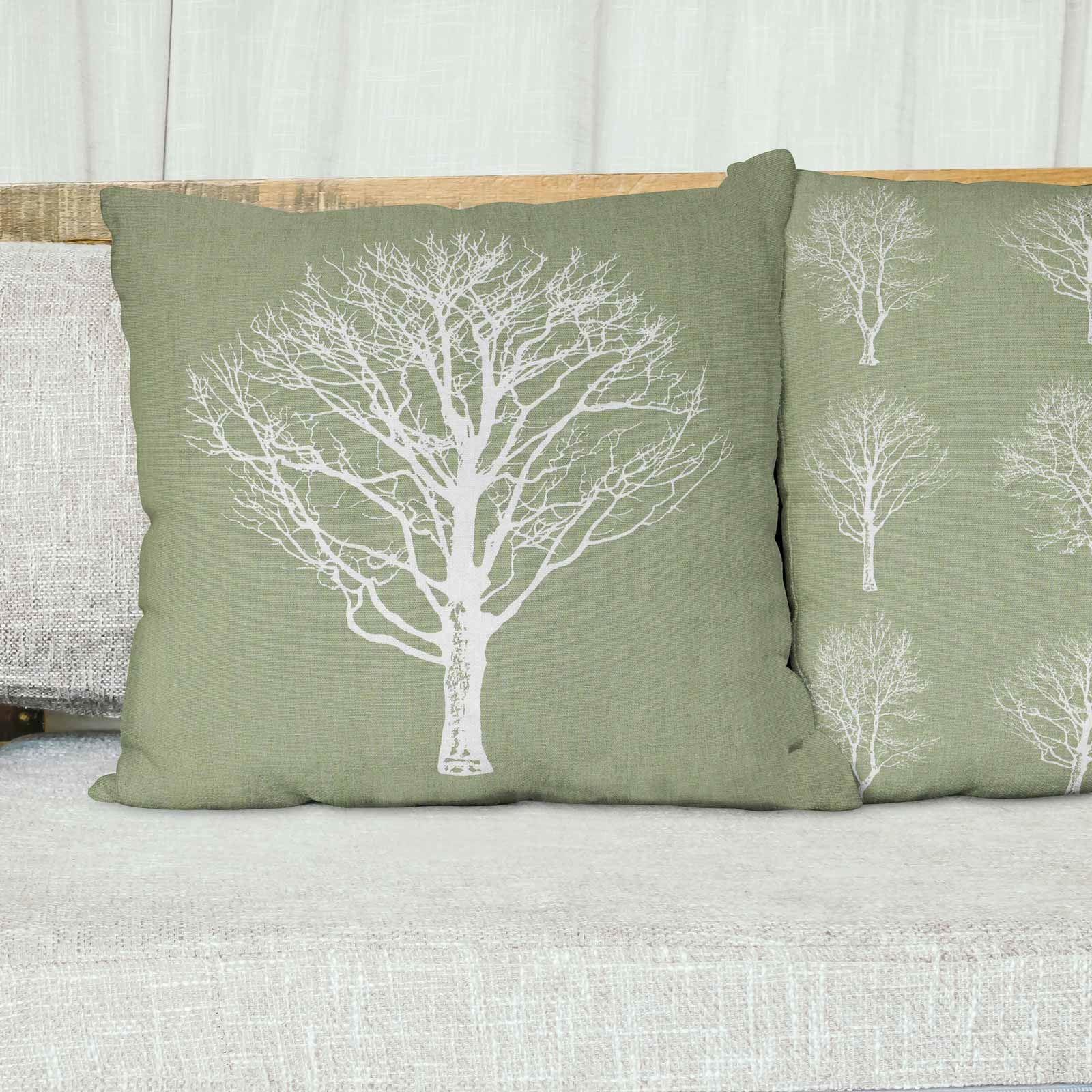 Woodland-Trees-Cushion-Cover-Modern-Reversible-Tree-Print-Covers-17-034-x-17-034 thumbnail 29