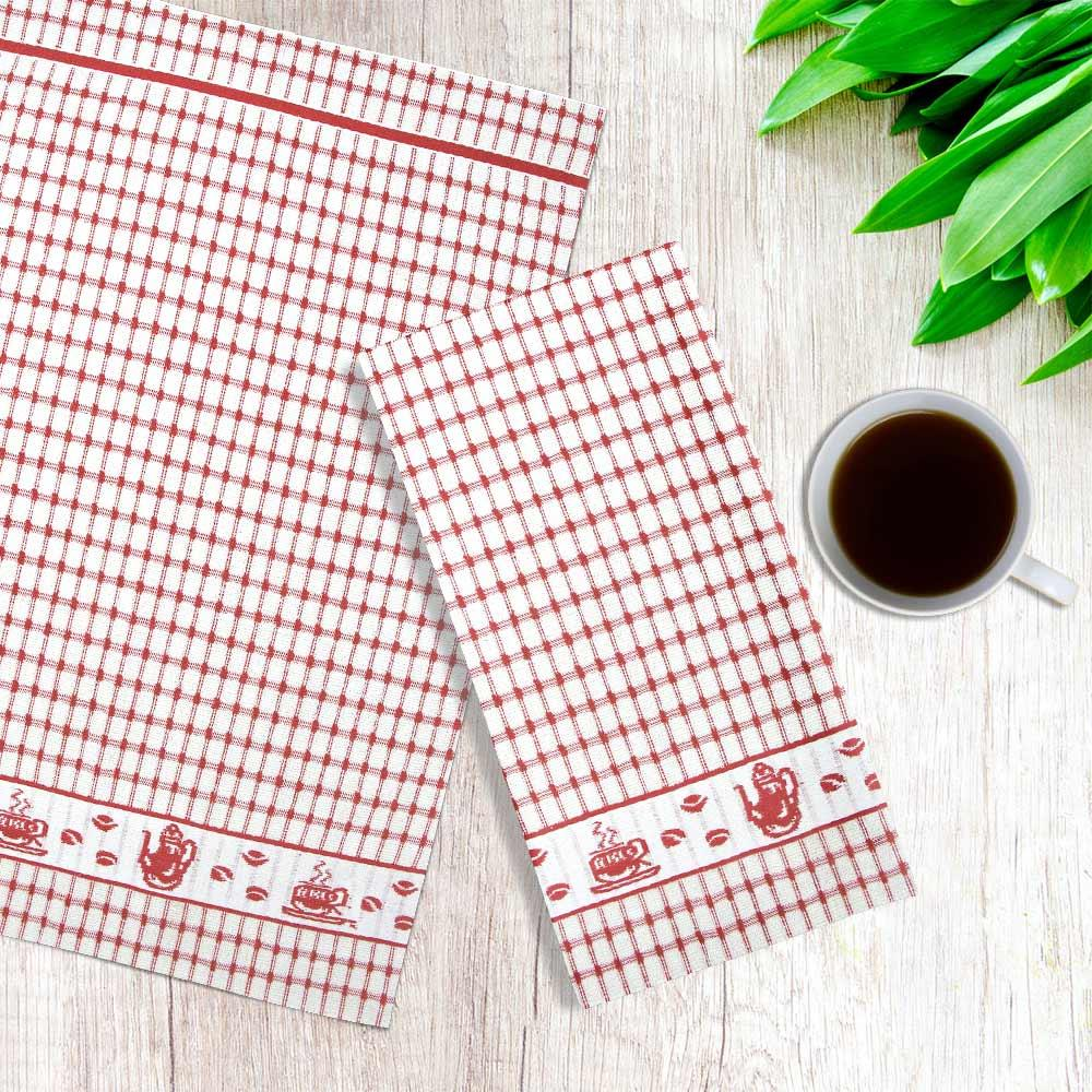Packs-of-2-4-6-12-Tea-Towels-100-Cotton-Terry-Kitchen-Dish-Drying-Towel-Sets thumbnail 7