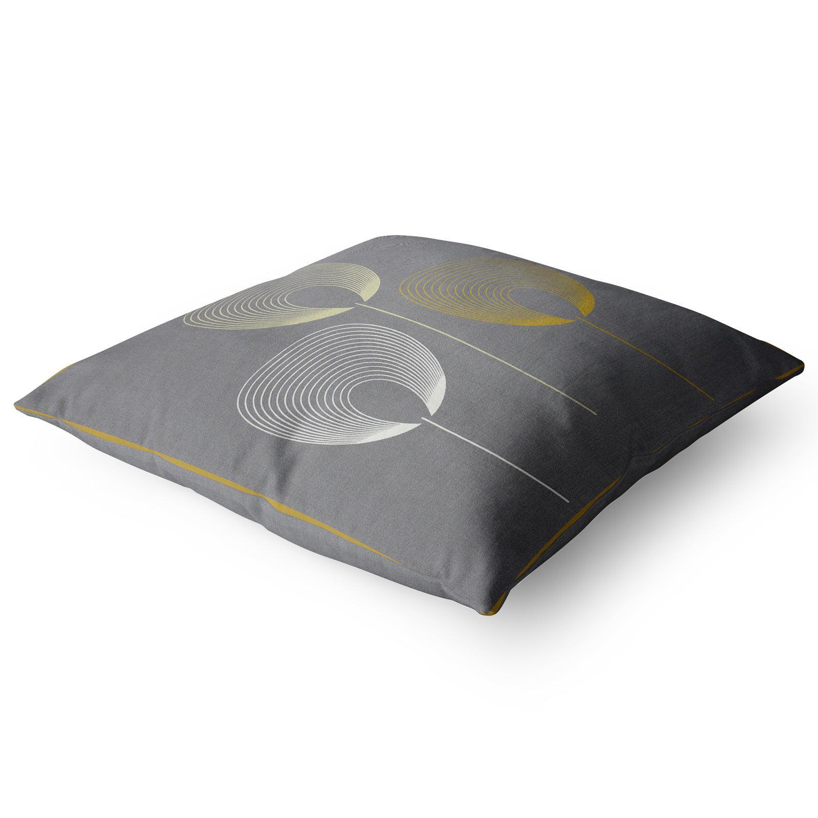 Geometrica-Cushion-Covers-Cojines-De-Impresion-Floral-Gris-Beige-Ocre-cubre-17-034-X-17-034 miniatura 15