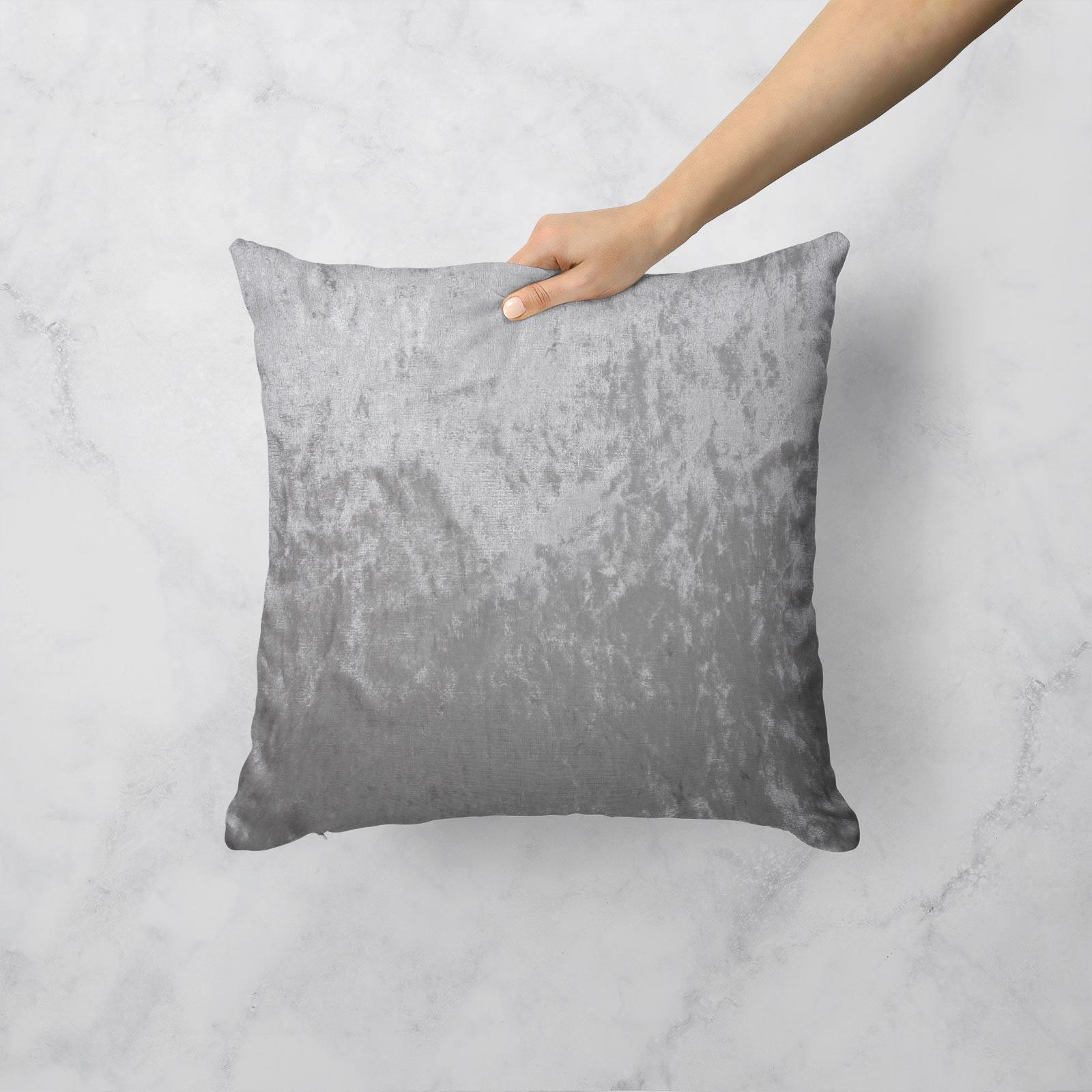 Cuscino-di-velluto-schiacciato-copre-GLAM-Tinta-Unita-Copricuscino-18-034-x-18-034-45cm-x-45cm miniatura 6