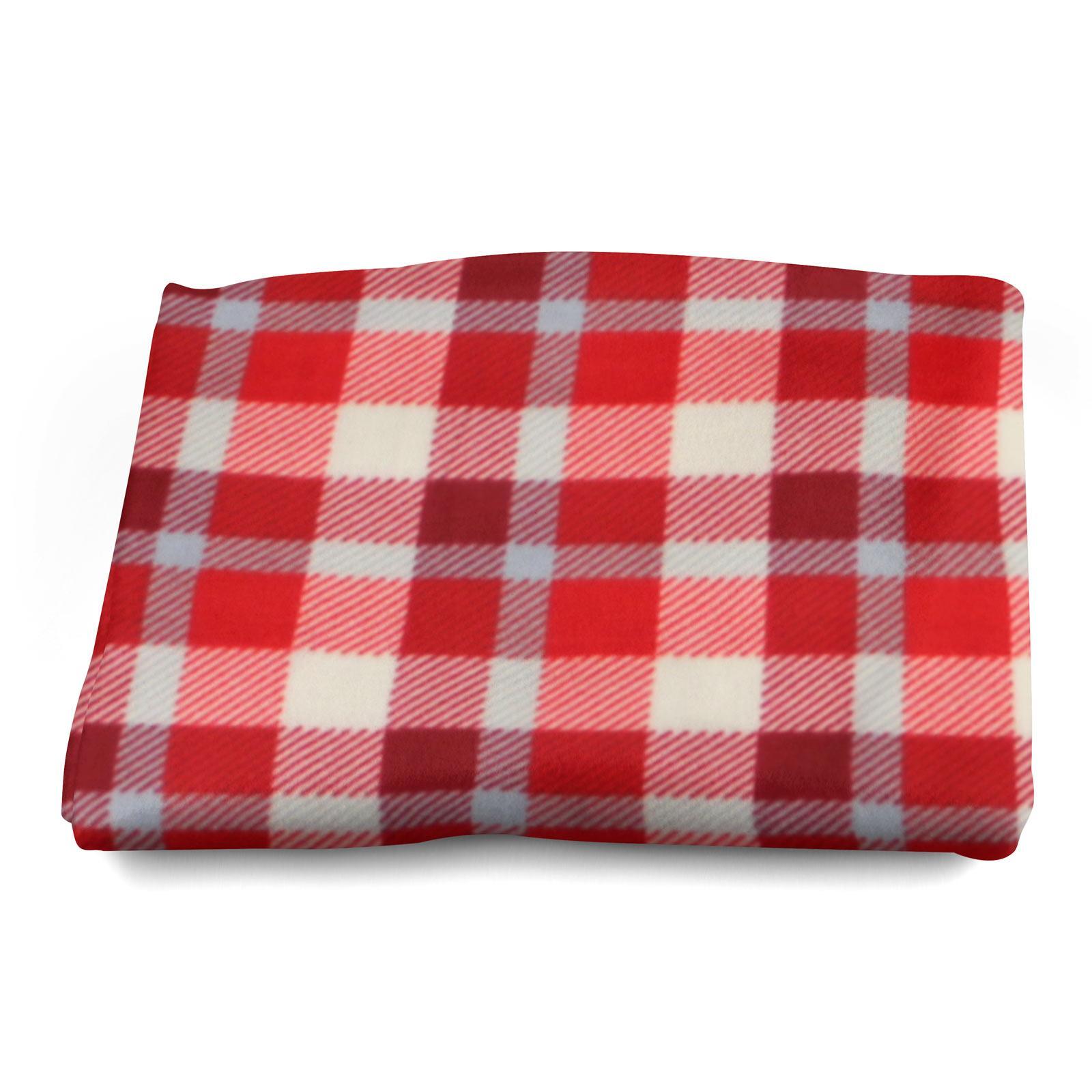 Sofa-de-verificacion-de-tartan-polar-mantas-polar-silla-acogedor-lanza-Manta-127cm-X-152cm miniatura 4