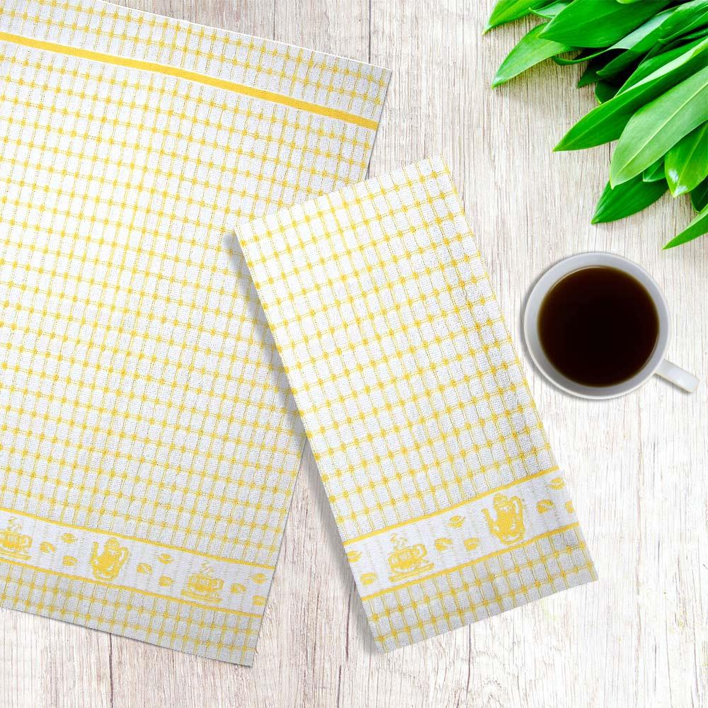 Packs-of-2-4-6-12-Tea-Towels-100-Cotton-Terry-Kitchen-Dish-Drying-Towel-Sets thumbnail 19
