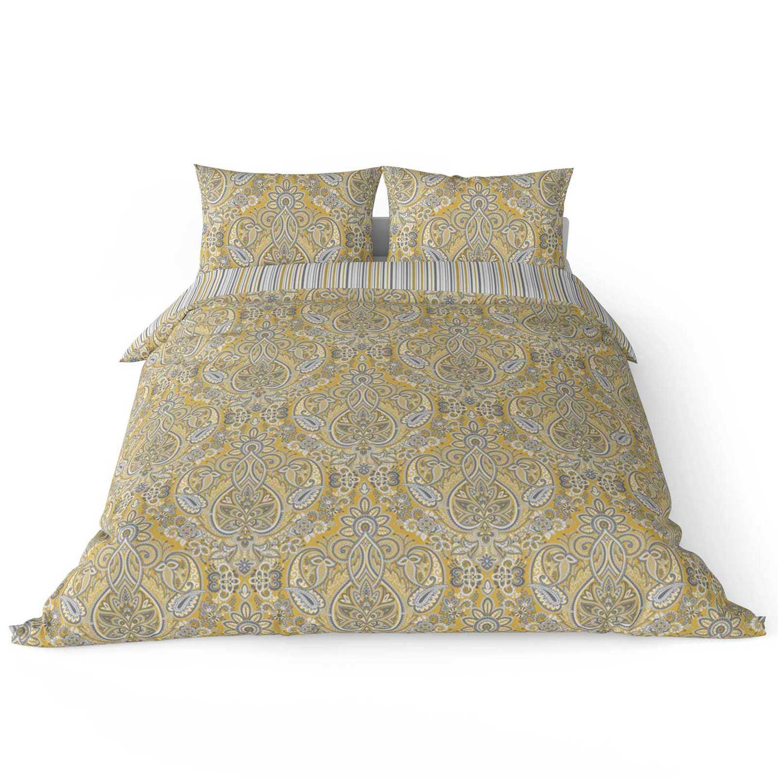 Mostaza-amarillo-ocre-Funda-de-edredon-impreso-Edredon-juego-ropa-de-cama-cubre-conjuntos miniatura 45