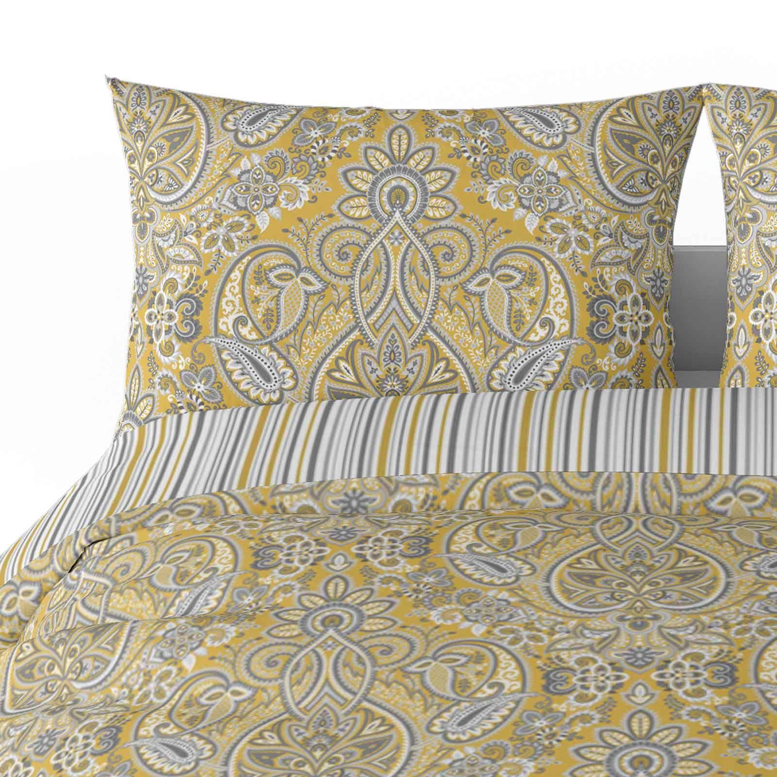 Mostaza-amarillo-ocre-Funda-de-edredon-impreso-Edredon-juego-ropa-de-cama-cubre-conjuntos miniatura 42