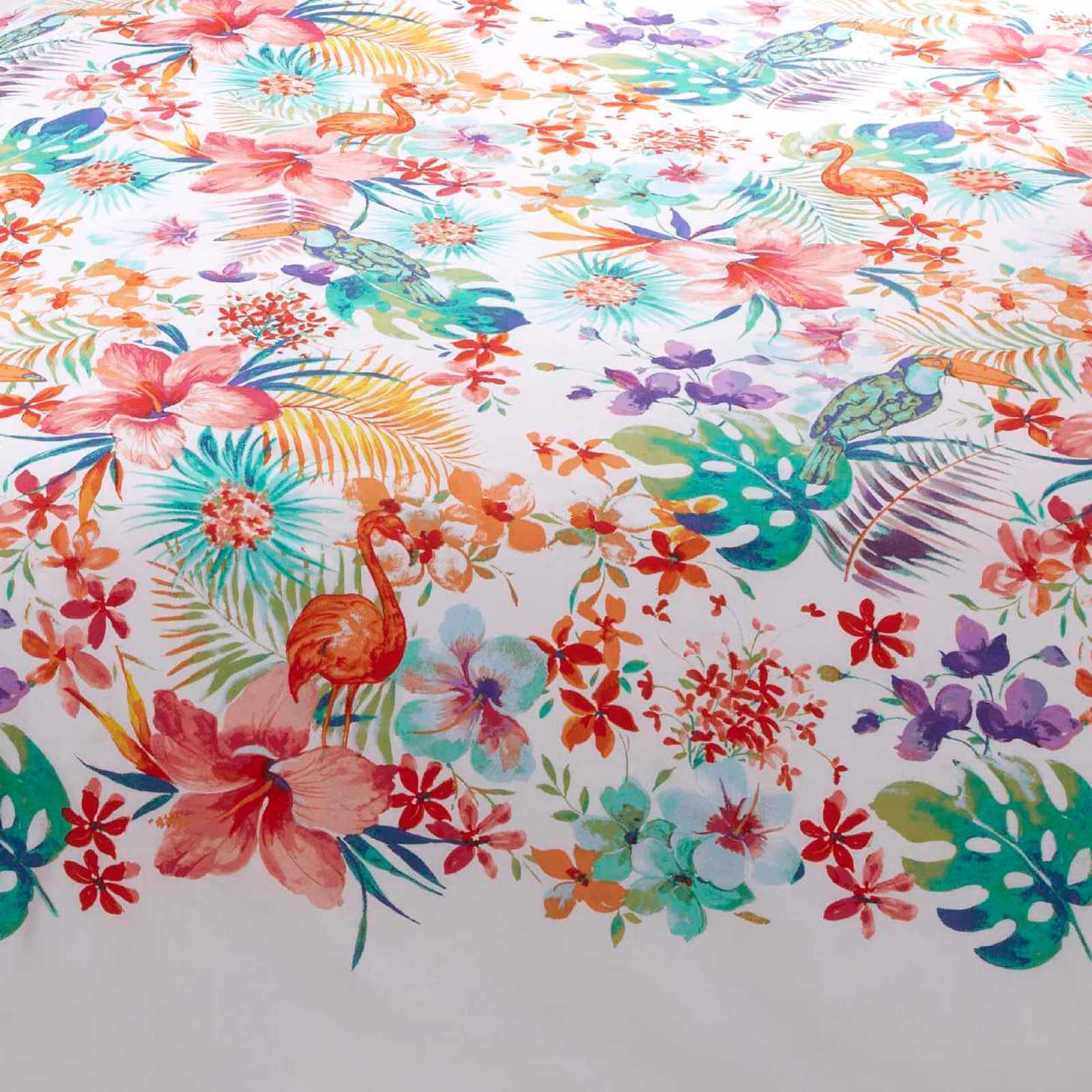 Multi housses de couette Tropical Paume Feuille Floral Blanc avec Housse de couette Ensembles De Literie