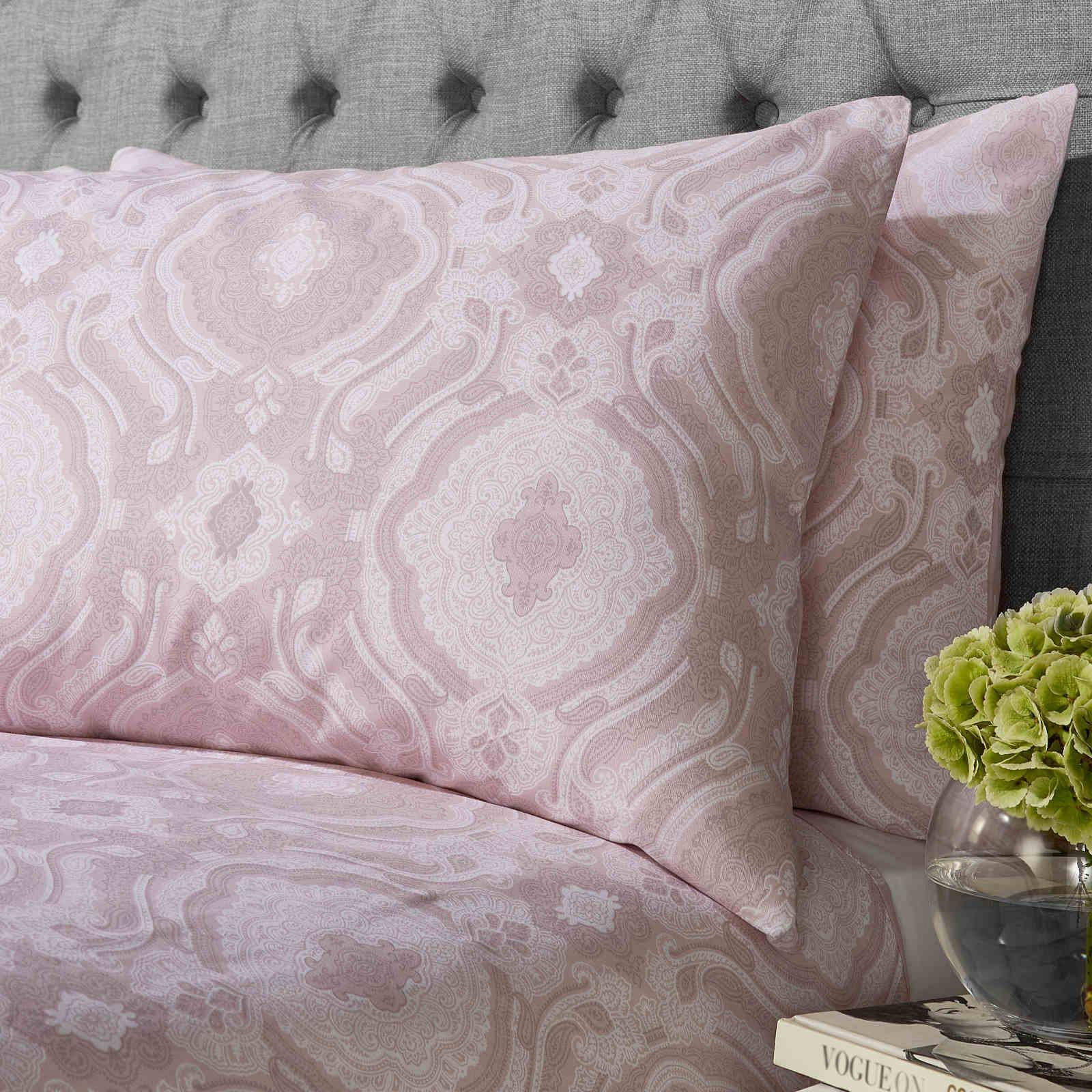Cubierta-Edredon-Rosa-Blush-Rose-Impreso-juego-De-Edredon-Conjuntos-de-Cama-cubre-Jacquard miniatura 9