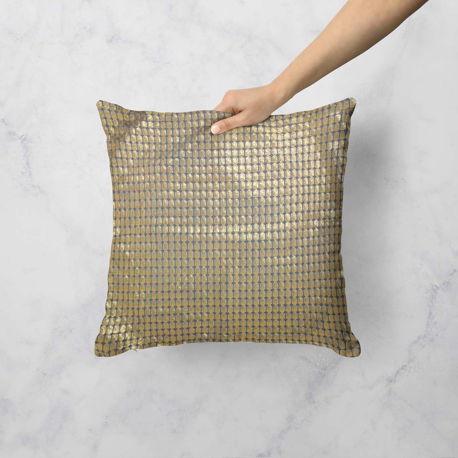 Impresion-de-lamina-metalica-Moderno-Funda-De-Cojin-Almohadon-cubiertas-de-cojines-18-034-X-18-034 miniatura 12