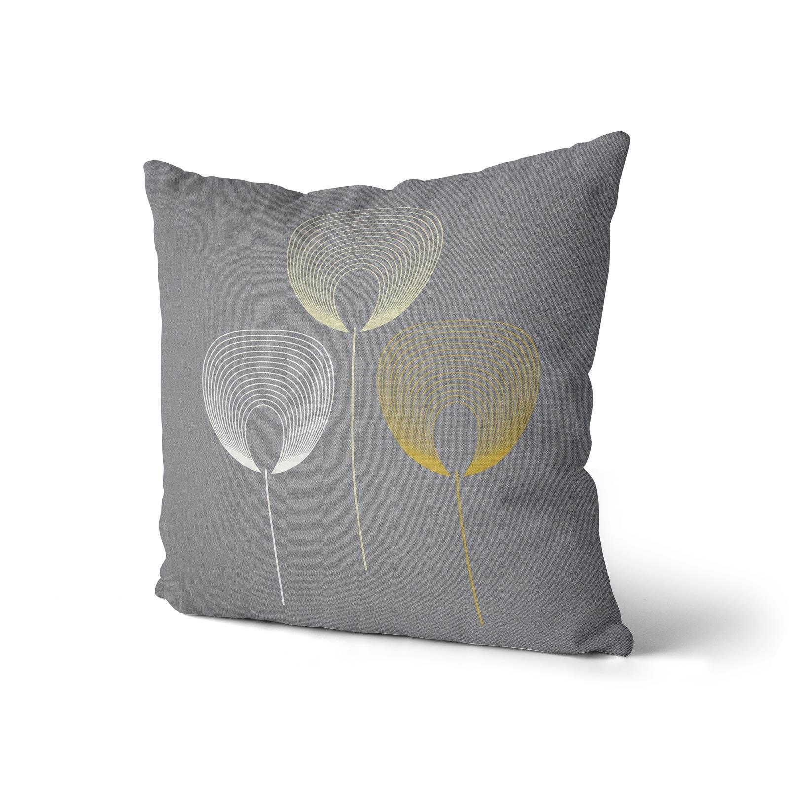 Geometrica-Cushion-Covers-Cojines-De-Impresion-Floral-Gris-Beige-Ocre-cubre-17-034-X-17-034 miniatura 17