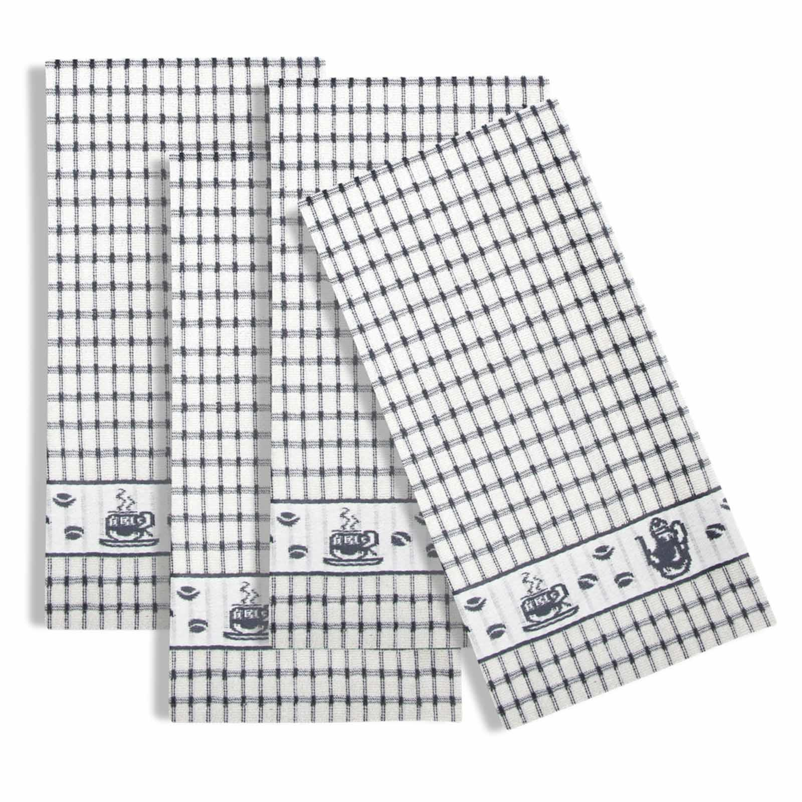 Packs-of-2-4-6-12-Tea-Towels-100-Cotton-Terry-Kitchen-Dish-Drying-Towel-Sets thumbnail 48