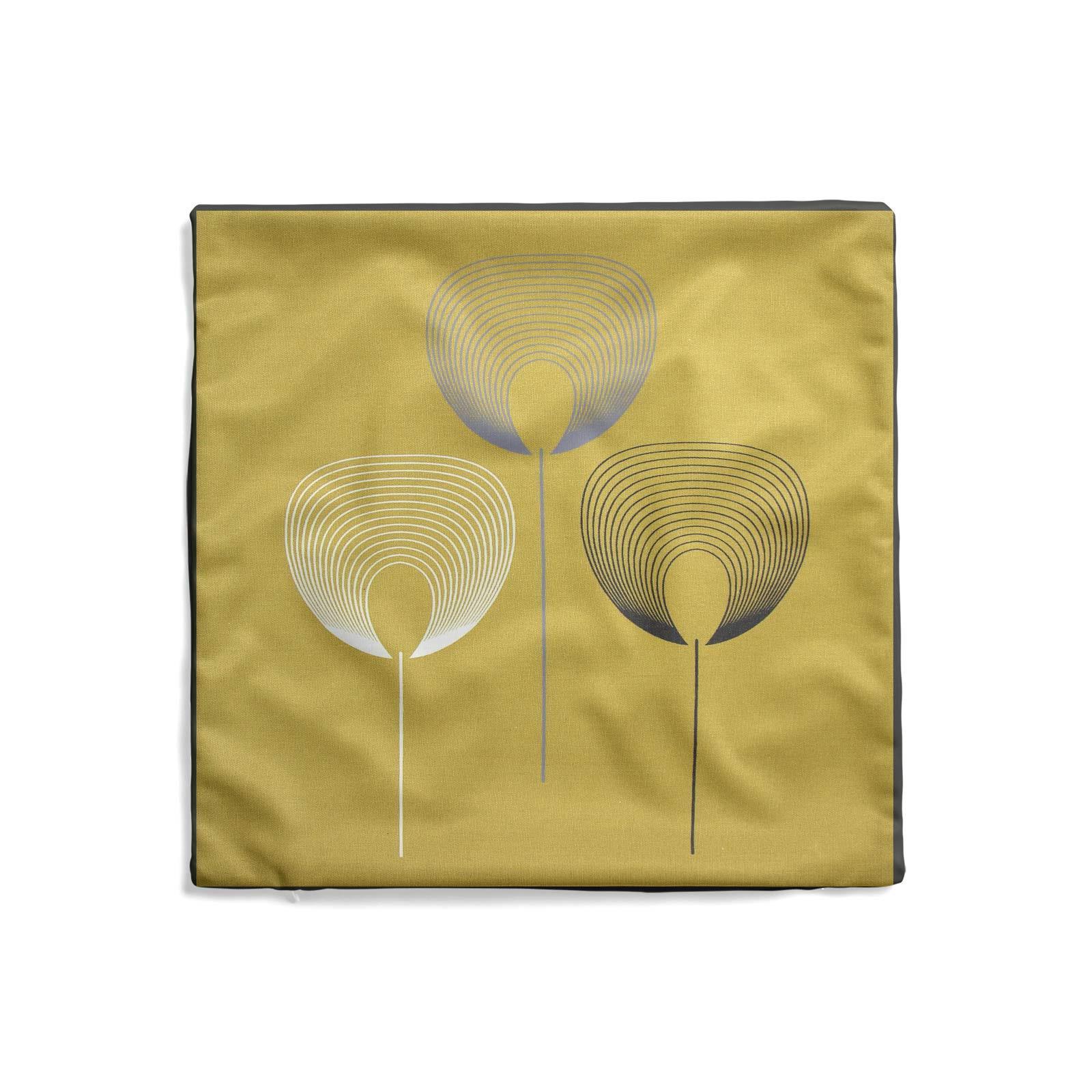 Geometrica-Cushion-Covers-Cojines-De-Impresion-Floral-Gris-Beige-Ocre-cubre-17-034-X-17-034 miniatura 4