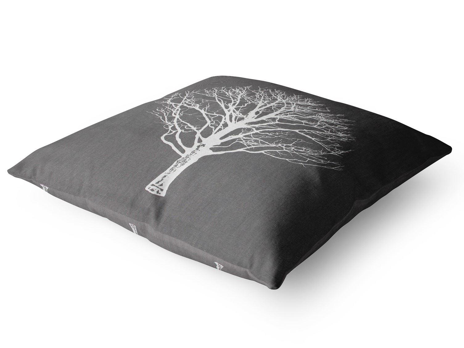 Woodland-Trees-Cushion-Cover-Modern-Reversible-Tree-Print-Covers-17-034-x-17-034 thumbnail 4