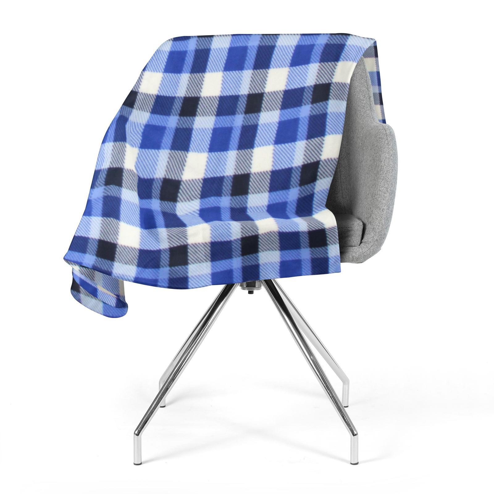 Sofa-de-verificacion-de-tartan-polar-mantas-polar-silla-acogedor-lanza-Manta-127cm-X-152cm miniatura 18