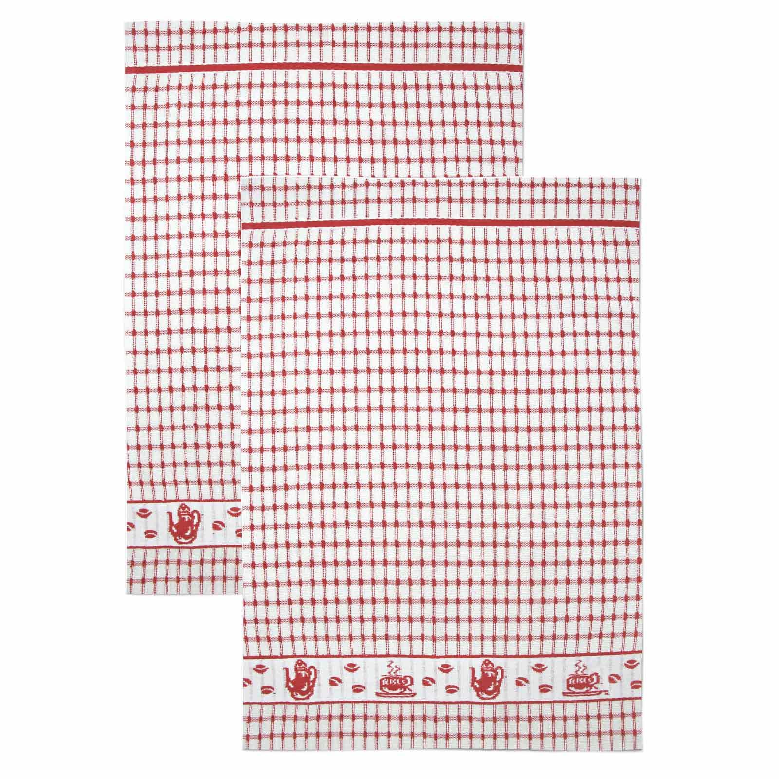 Packs-of-2-4-6-12-Tea-Towels-100-Cotton-Terry-Kitchen-Dish-Drying-Towel-Sets thumbnail 4