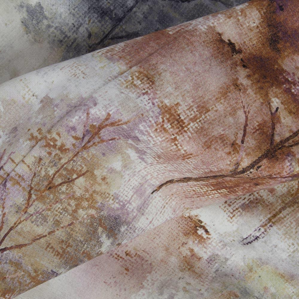 Woodland-Cinta-superior-Cortinas-de-arboles-de-impresion-Ready-Made-3-034-pares-de-cortina-plisado miniatura 7
