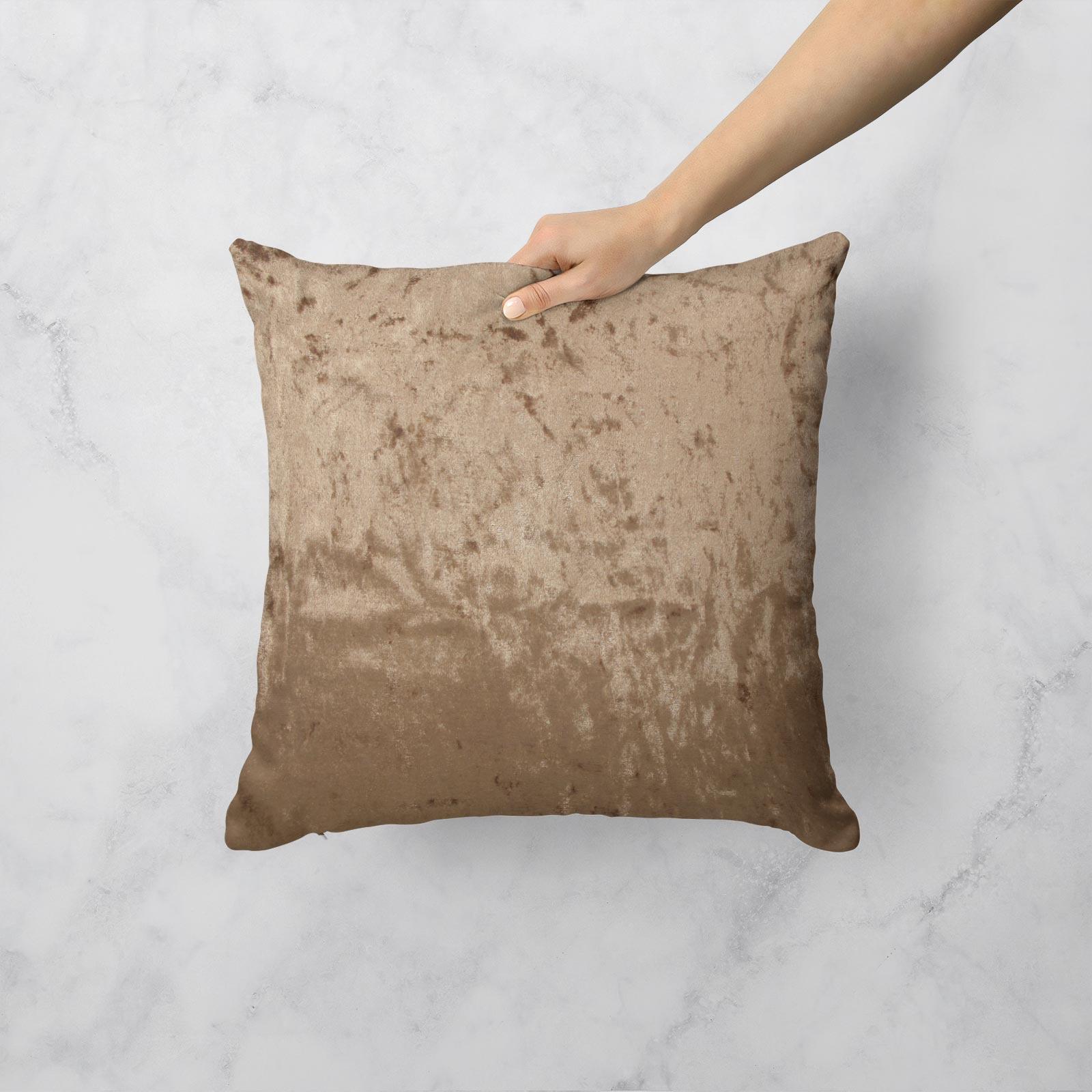 Cuscino-di-velluto-schiacciato-copre-GLAM-Tinta-Unita-Copricuscino-18-034-x-18-034-45cm-x-45cm miniatura 36